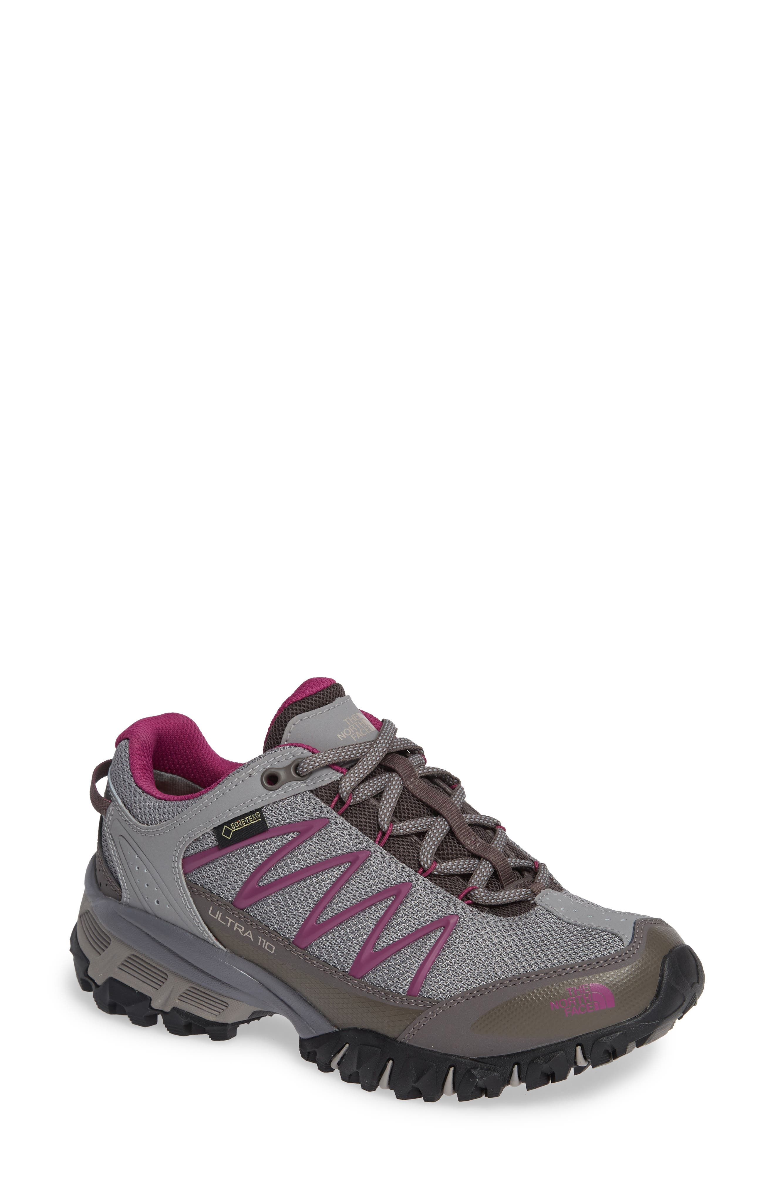 Ultra 110 GTX<sup>®</sup> Hiking Shoe,                         Main,                         color, Q-SILVER GREY/ ASTER PURPLE