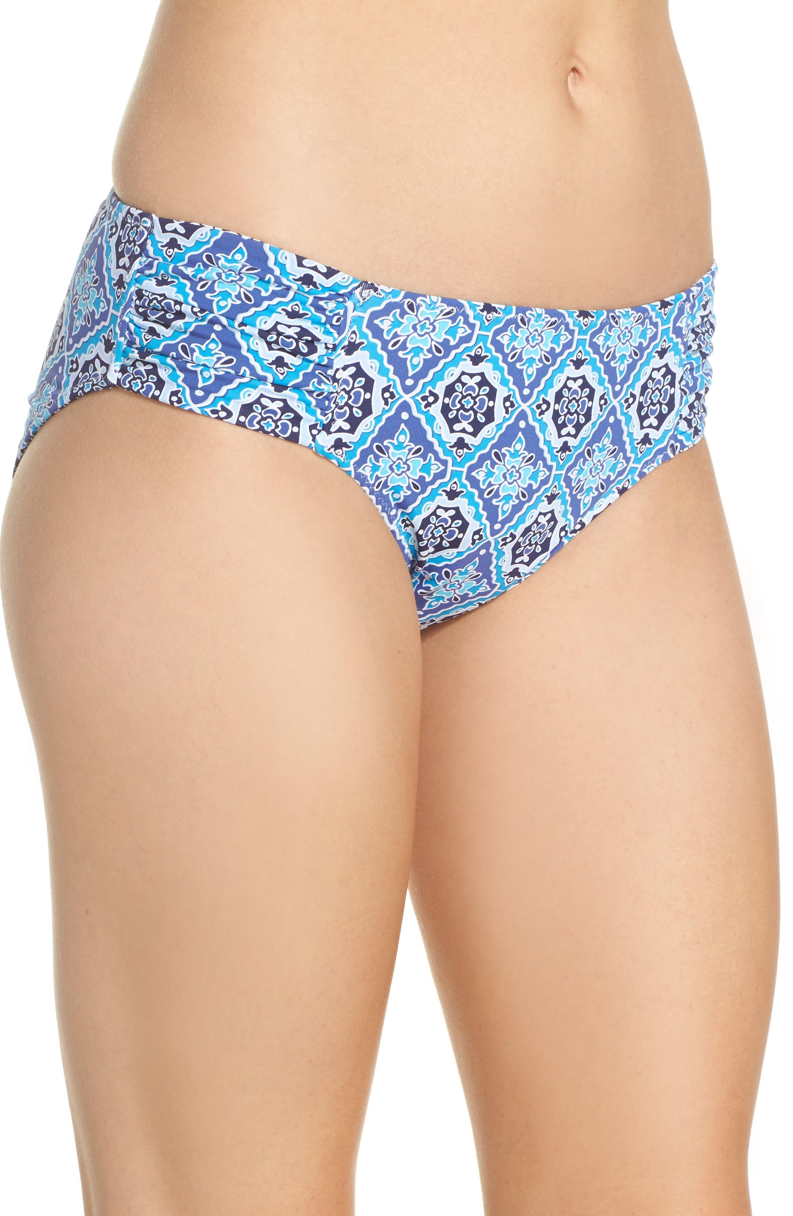 Tika Tiles Reversible Bikini Bottoms,                             Alternate thumbnail 3, color,                             400