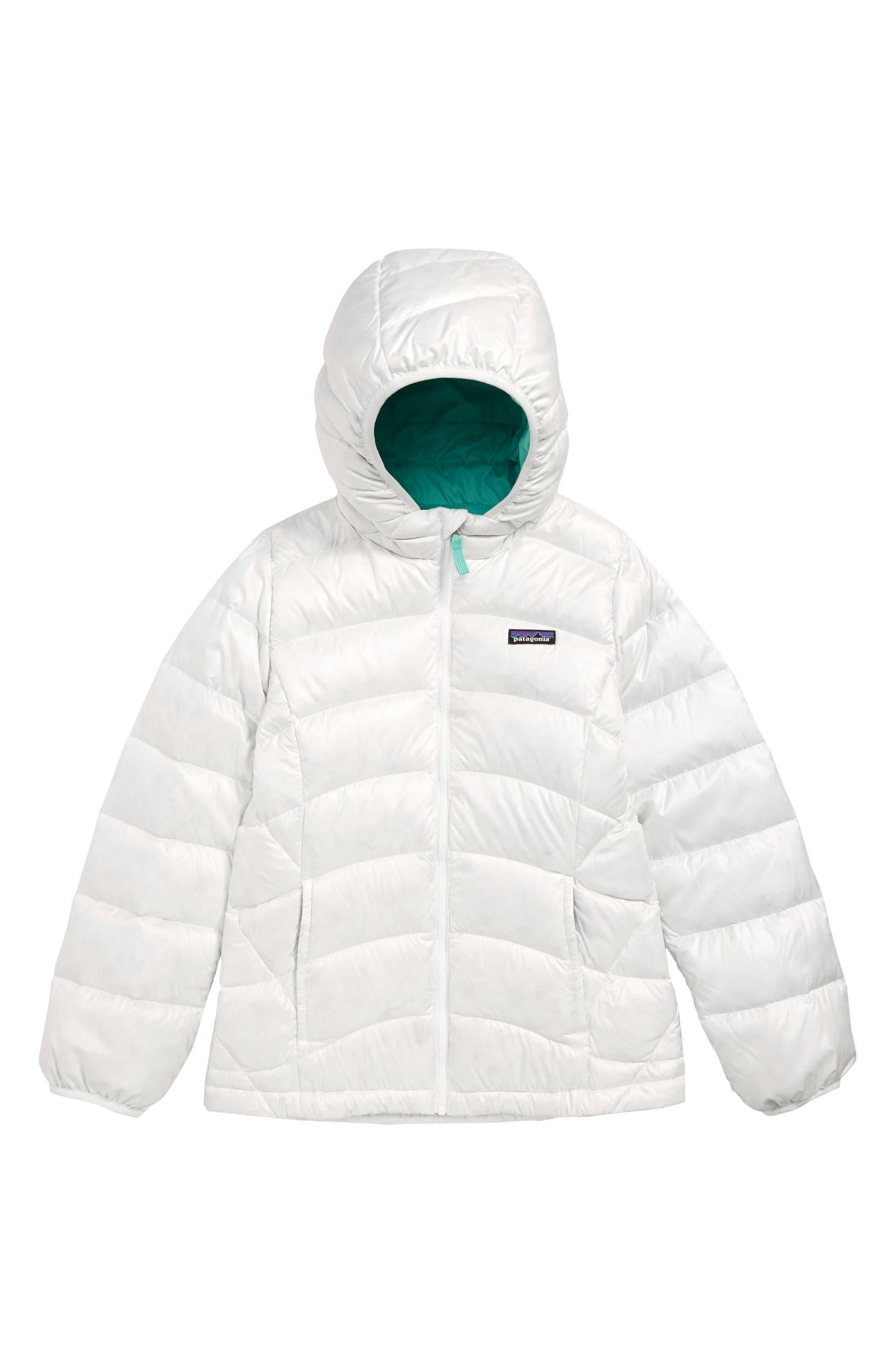 8a27d9ad58ea Patagonia Hi-Loft Down Sweater Hooded Jacket (Little Girls   Big Girls)