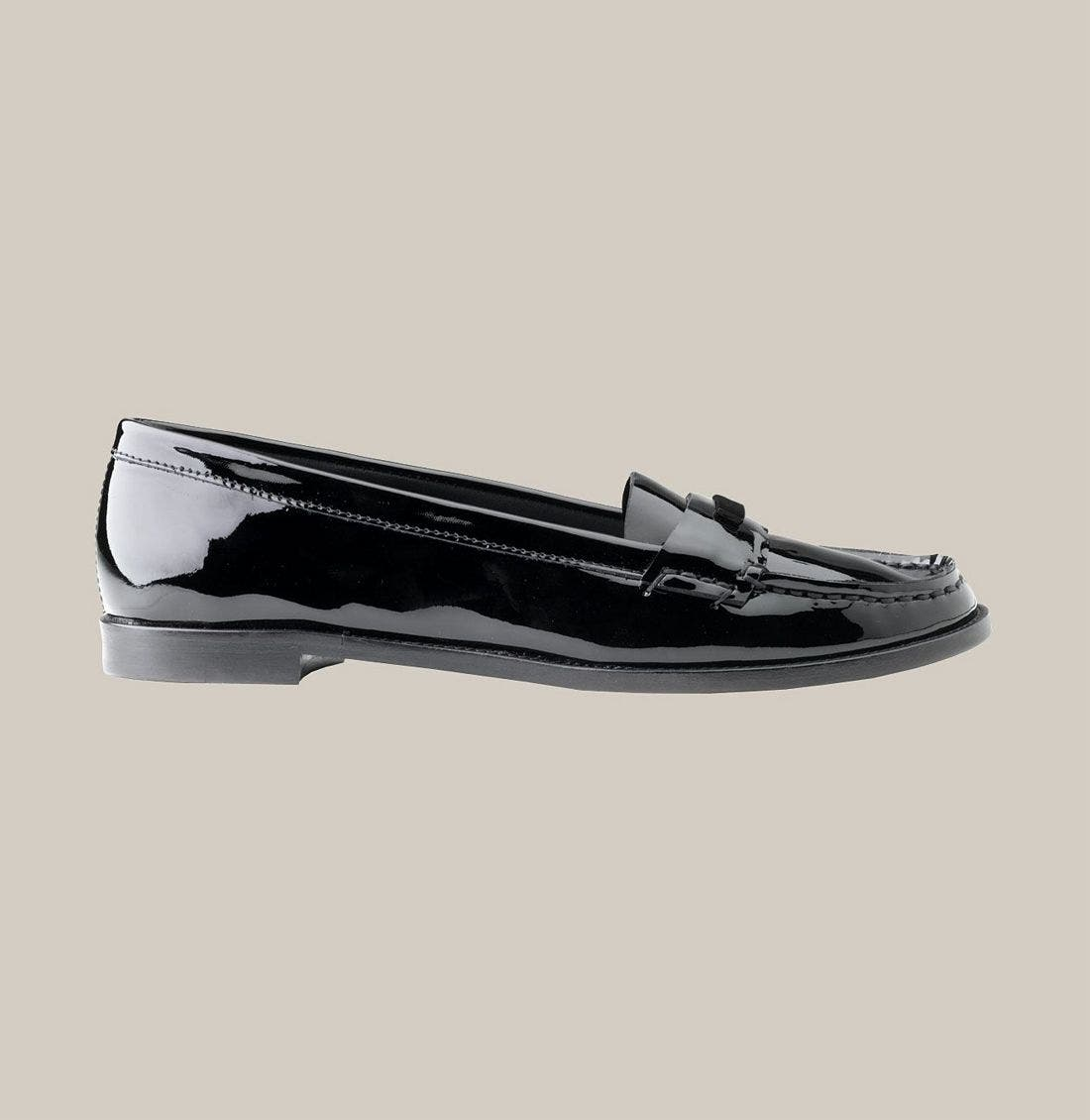 BURBERRY,                             Patent Leather Loafer,                             Alternate thumbnail 2, color,                             001