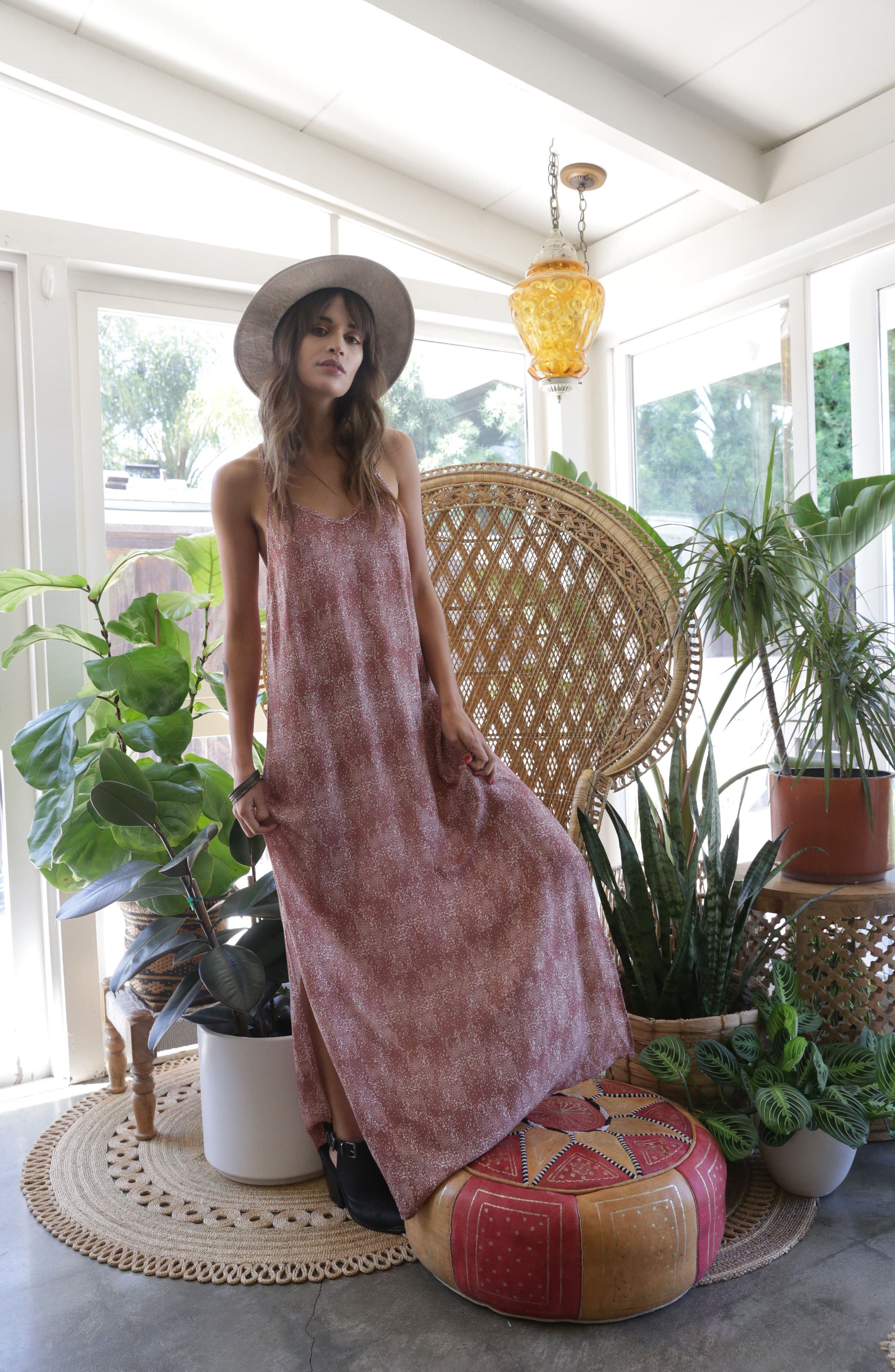 Misty Morning Maxi Dress,                             Alternate thumbnail 8, color,                             DEW