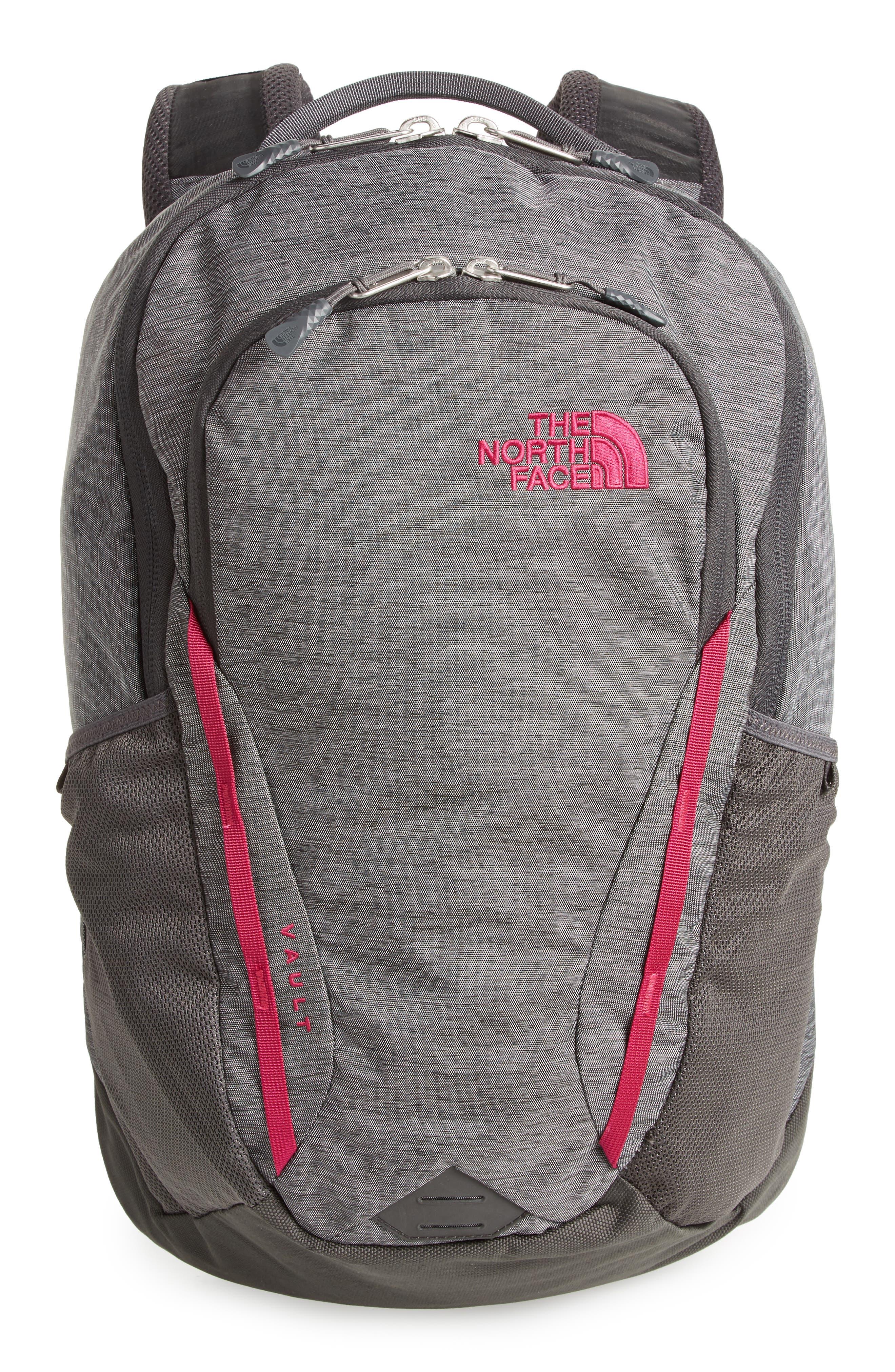 Vault Backpack,                             Main thumbnail 1, color,                             ASPHALT GREY/ DRAMATIC PLUM