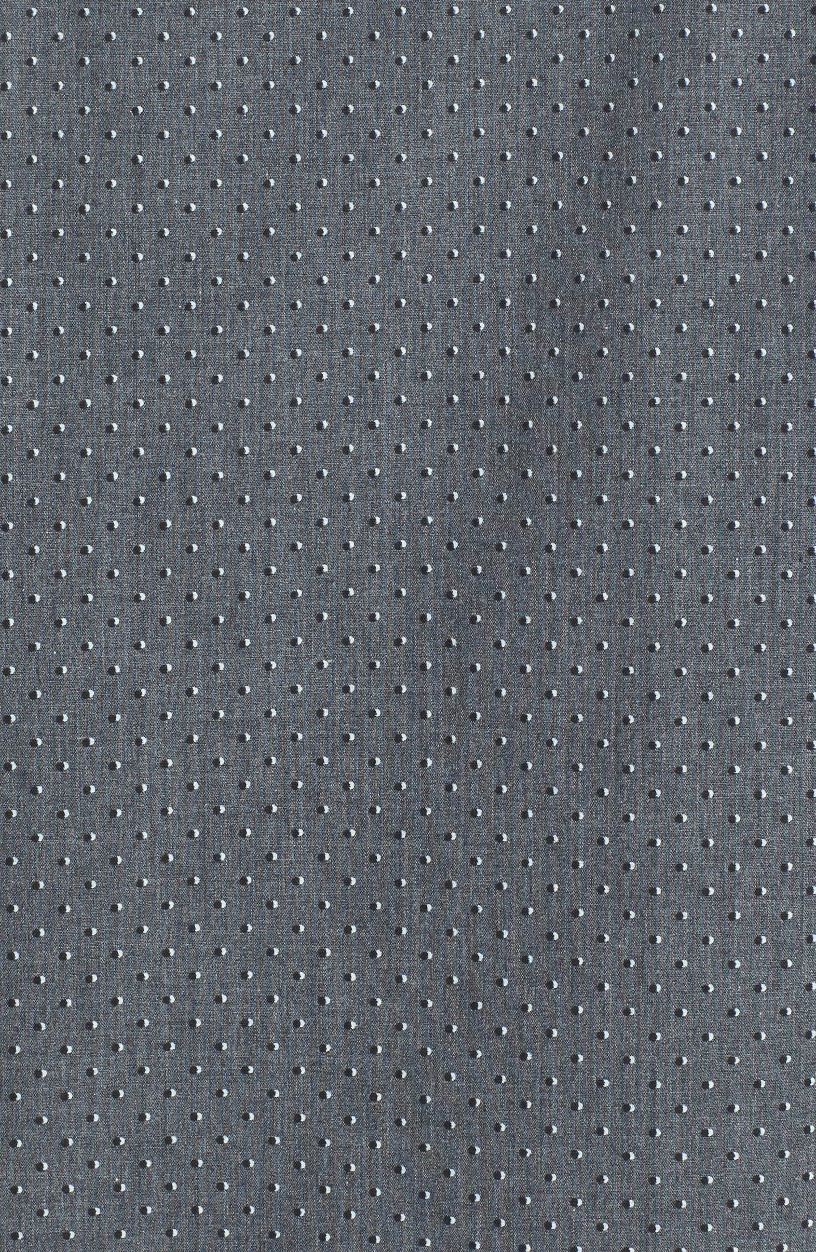 Trim Fit Non-Iron Dot Print Sport Shirt,                             Alternate thumbnail 5, color,                             030