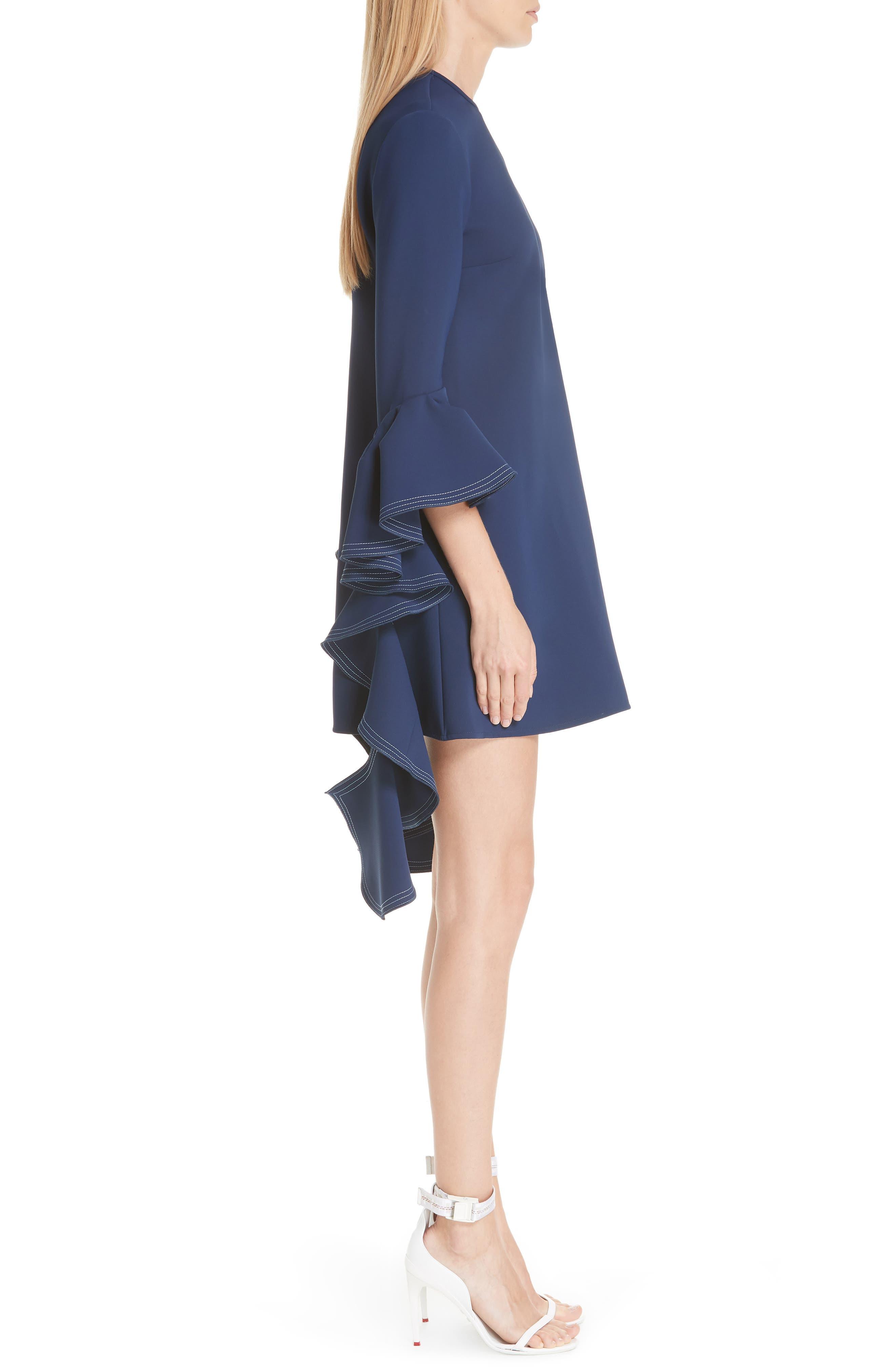 Kilkenny Frill Sleeve Minidress,                             Alternate thumbnail 3, color,                             400
