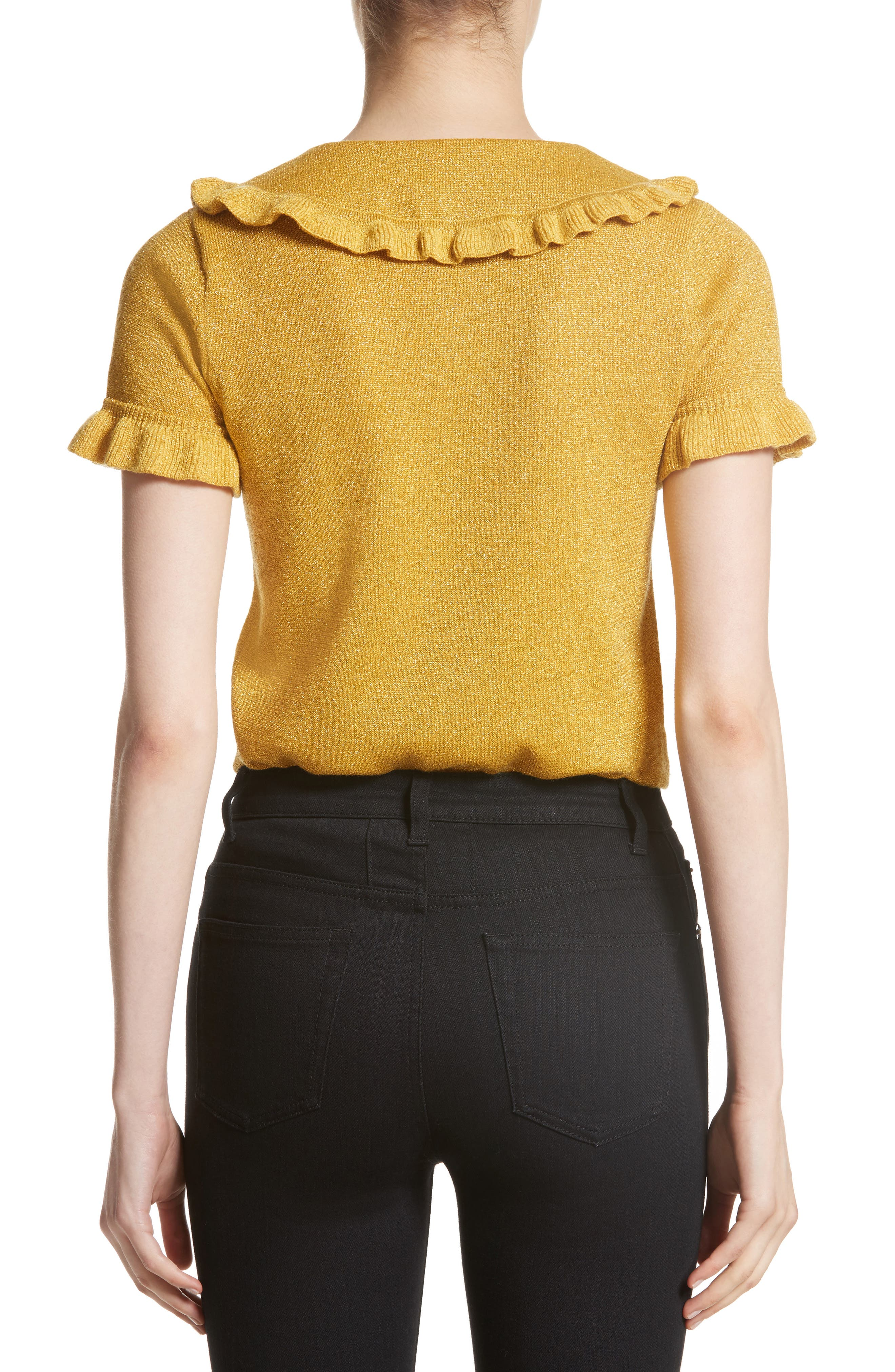 Campbell Frill Metallic Sweater,                             Alternate thumbnail 2, color,                             700