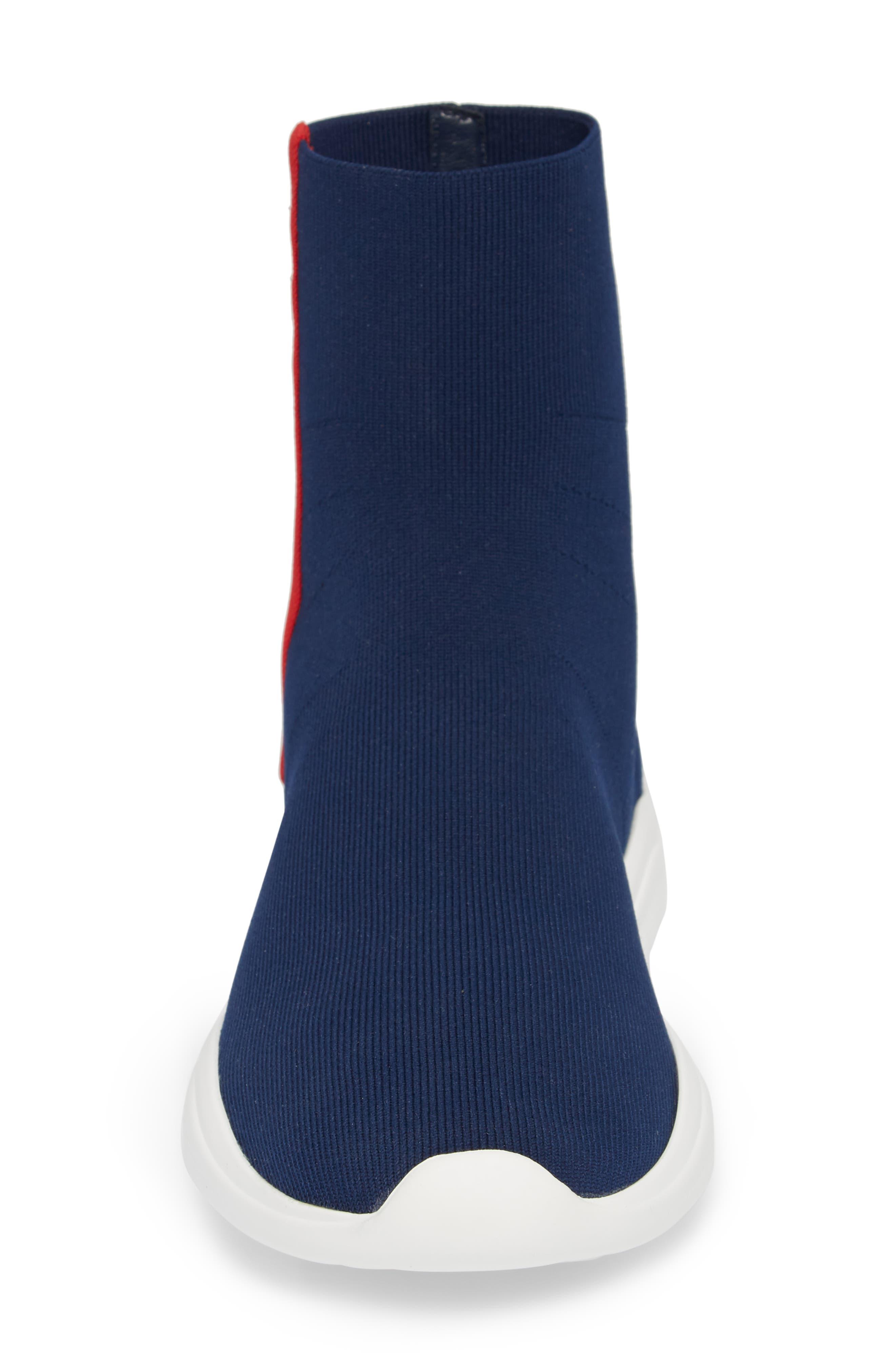 Logo Band Sock Sneaker,                             Alternate thumbnail 4, color,                             ROYAL BLUE