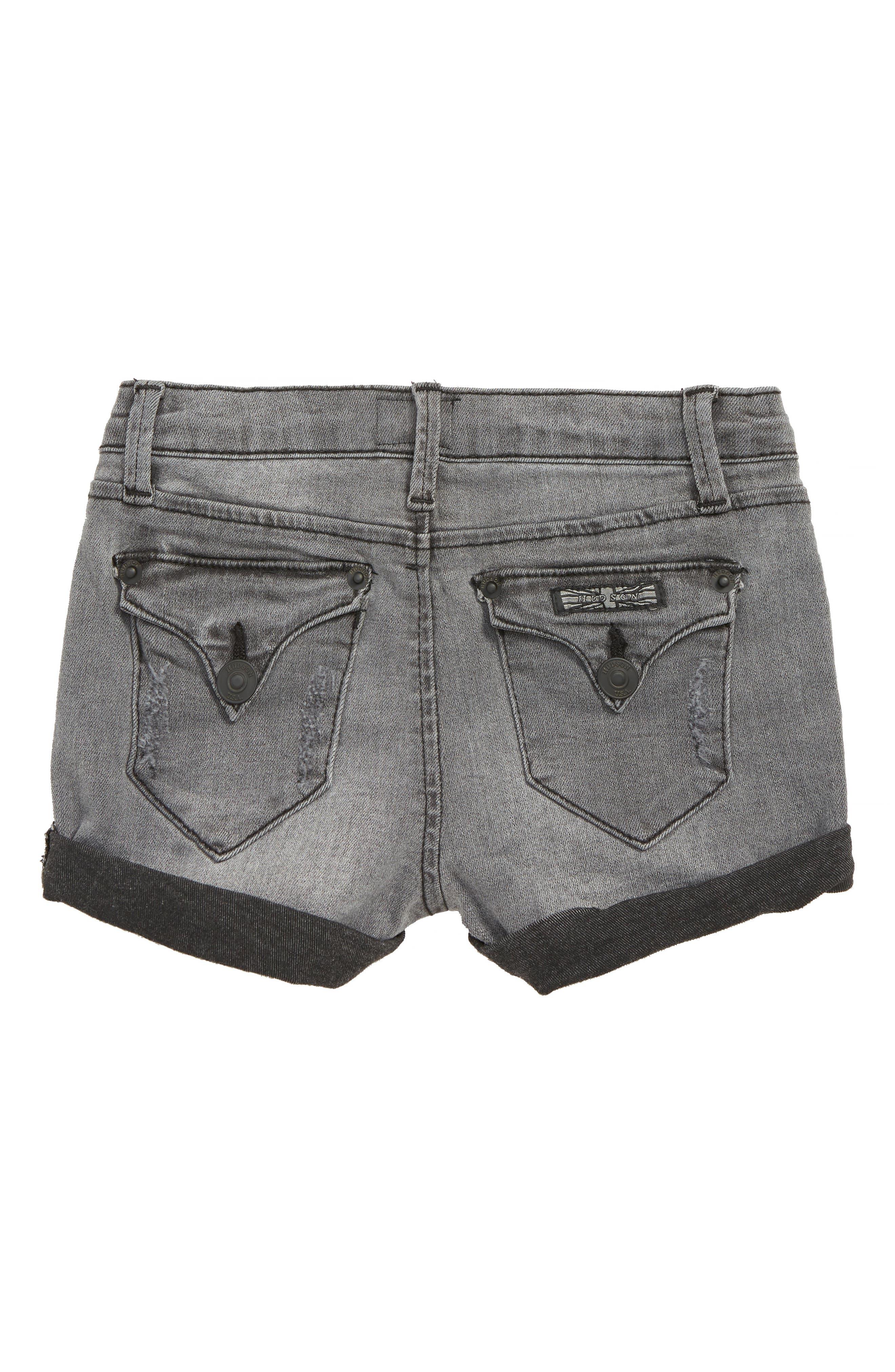 Roll Cuff Denim Shorts,                             Alternate thumbnail 2, color,                             001