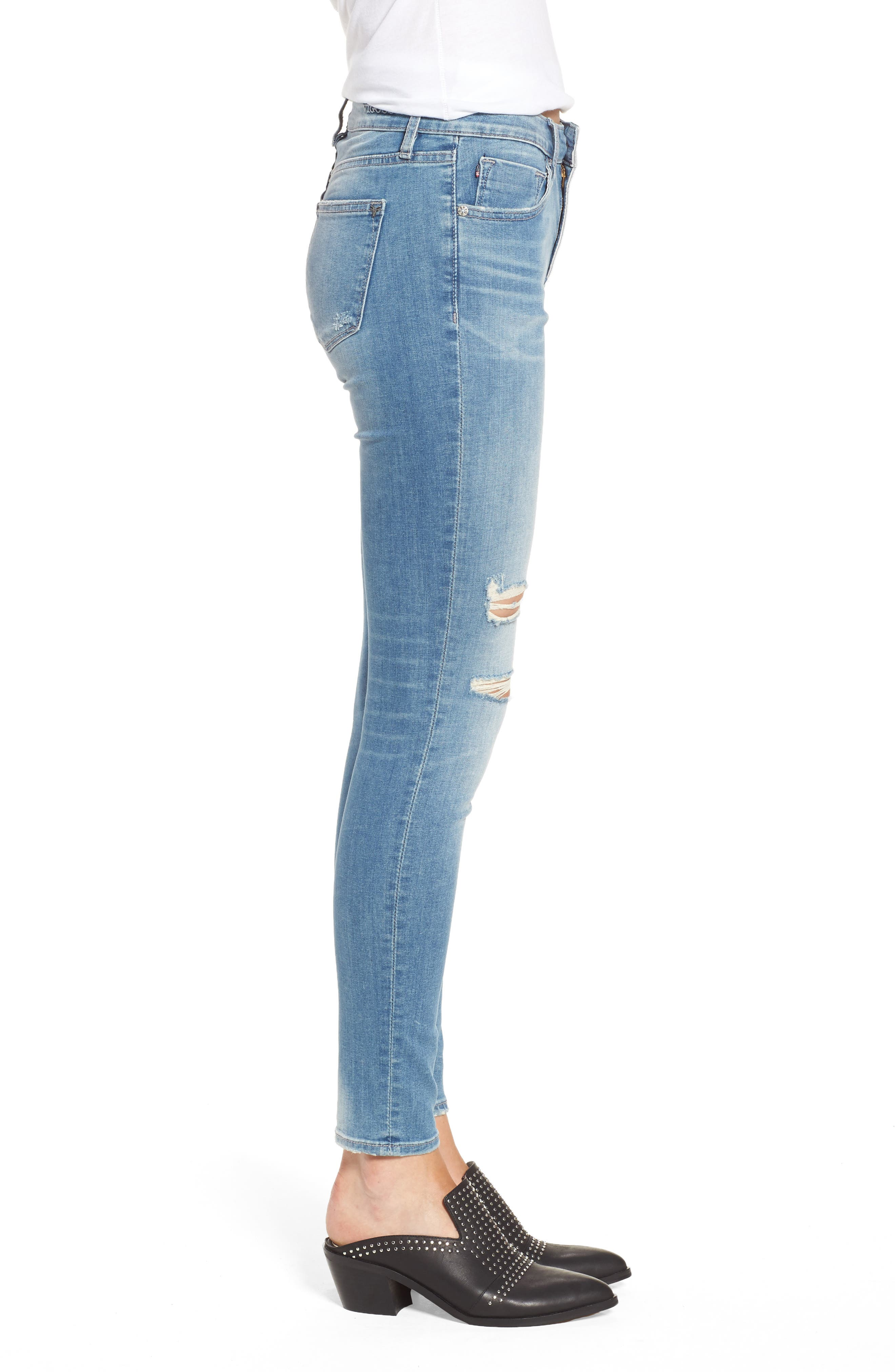 Marley Ripped Skinny Jeans,                             Alternate thumbnail 3, color,