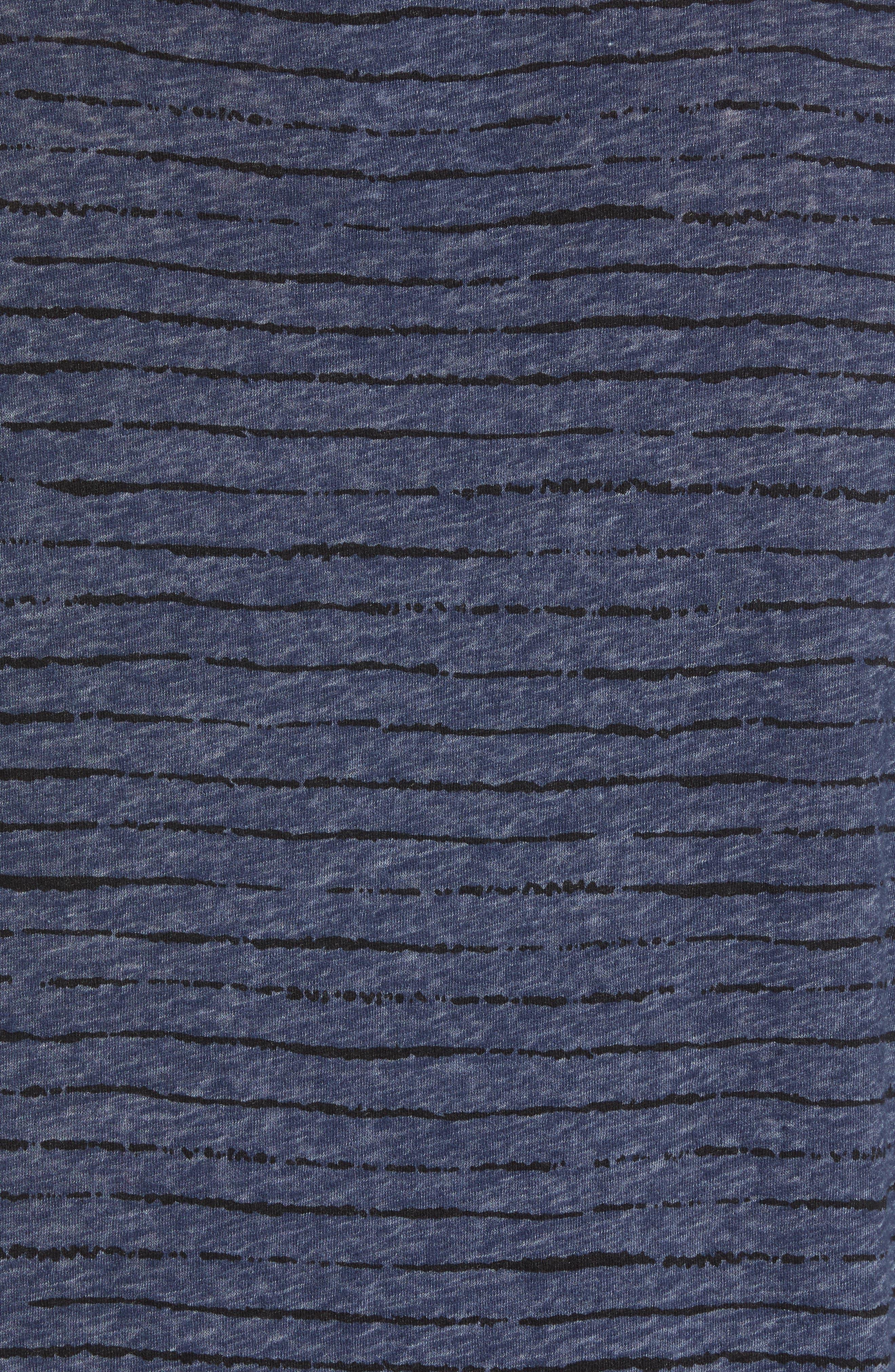 Regular Fit Crewneck Shirt,                             Alternate thumbnail 5, color,                             MIDNIGHT