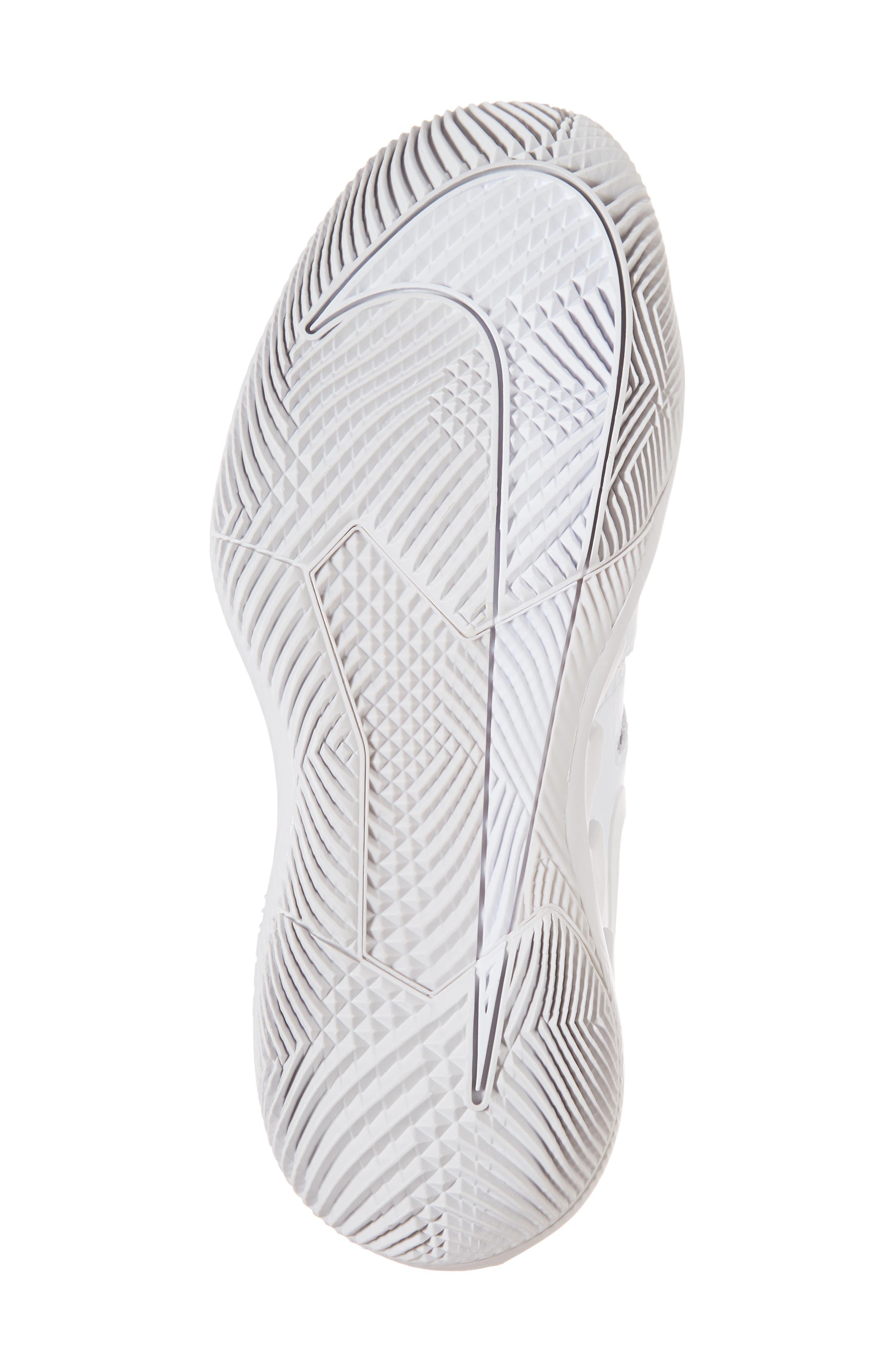 Air Zoom Vapor X Tennis Shoe,                             Alternate thumbnail 6, color,                             WHITE/ WHITE/ VAST GREY