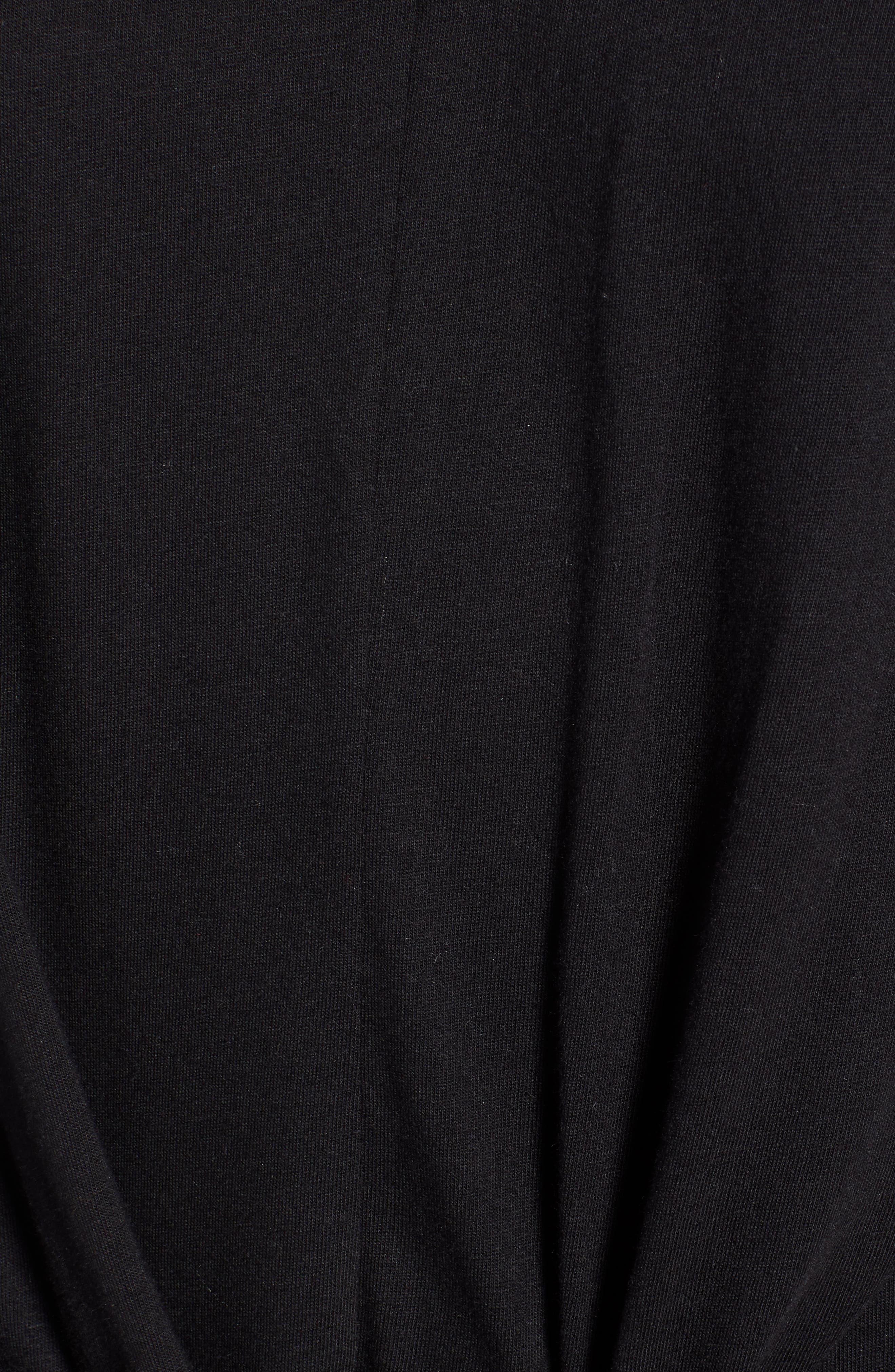 Tie Waist T-Shirt Dress,                             Alternate thumbnail 6, color,                             001