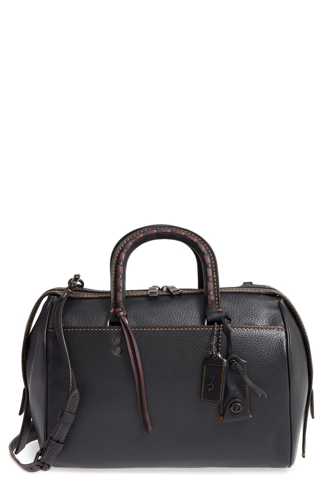 Rogue Leather Satchel,                         Main,                         color, 001