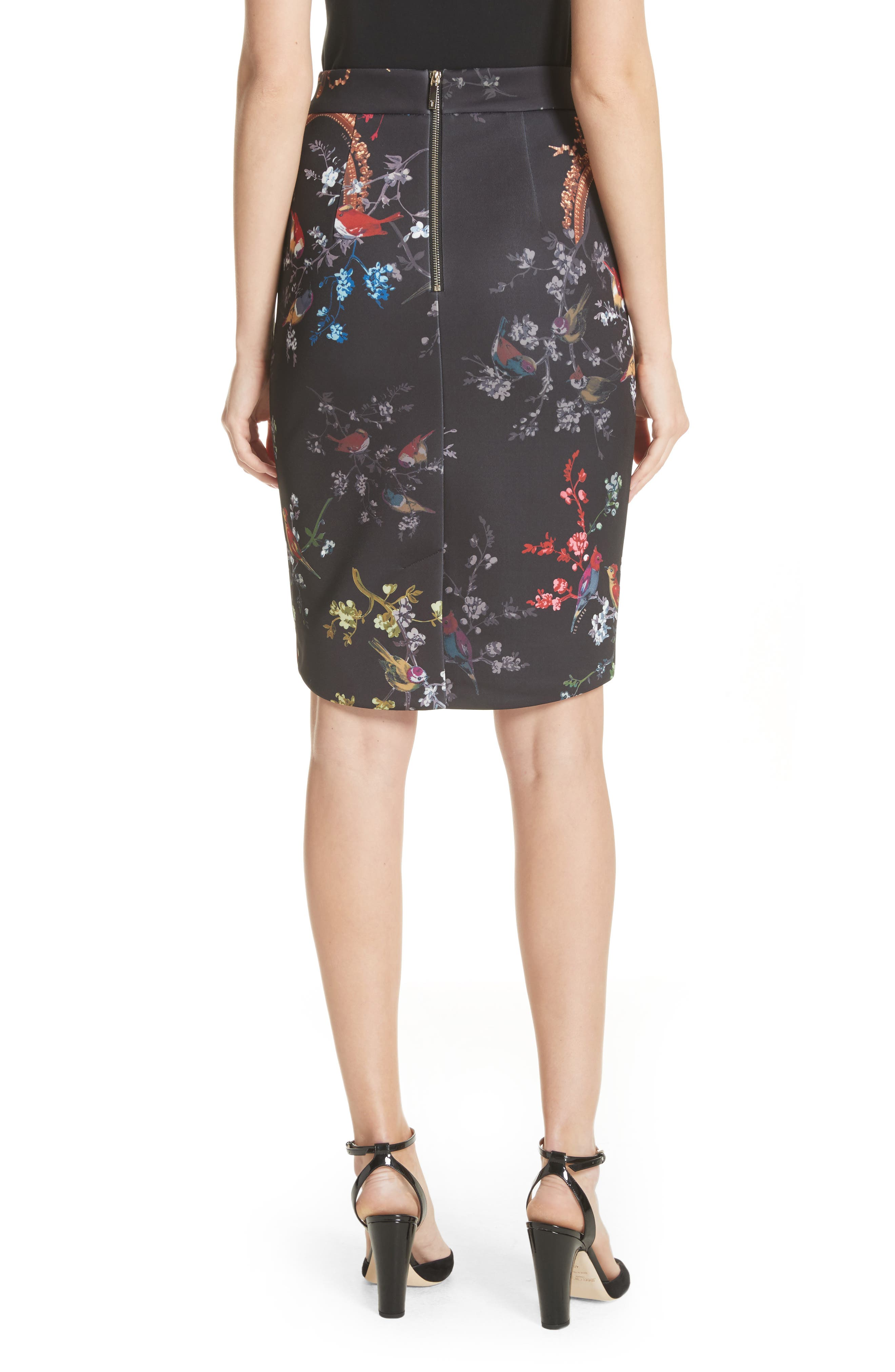 Opulent Fauna Pencil Skirt,                             Alternate thumbnail 2, color,