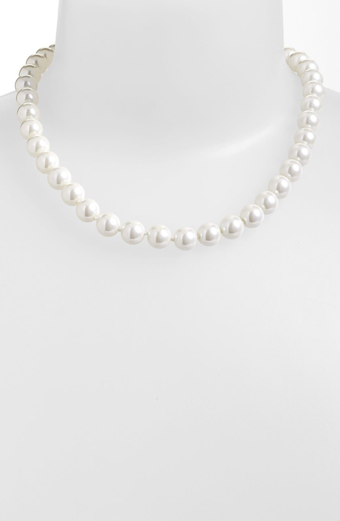Glass Pearl Collar Necklace,                         Main,                         color, 100