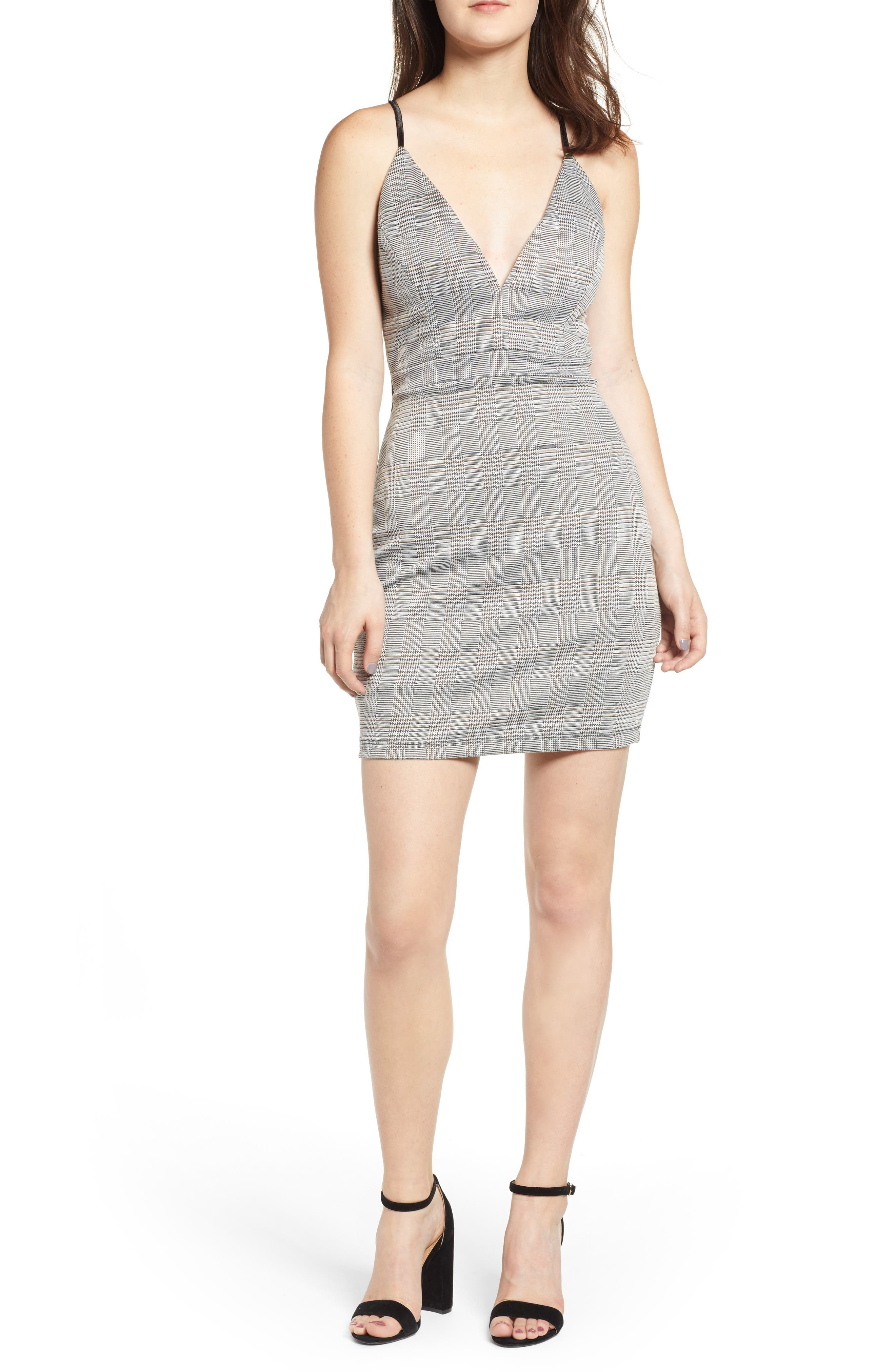 LOVE, NICKIE LEW,                             Body-Con Dress,                             Main thumbnail 1, color,                             001