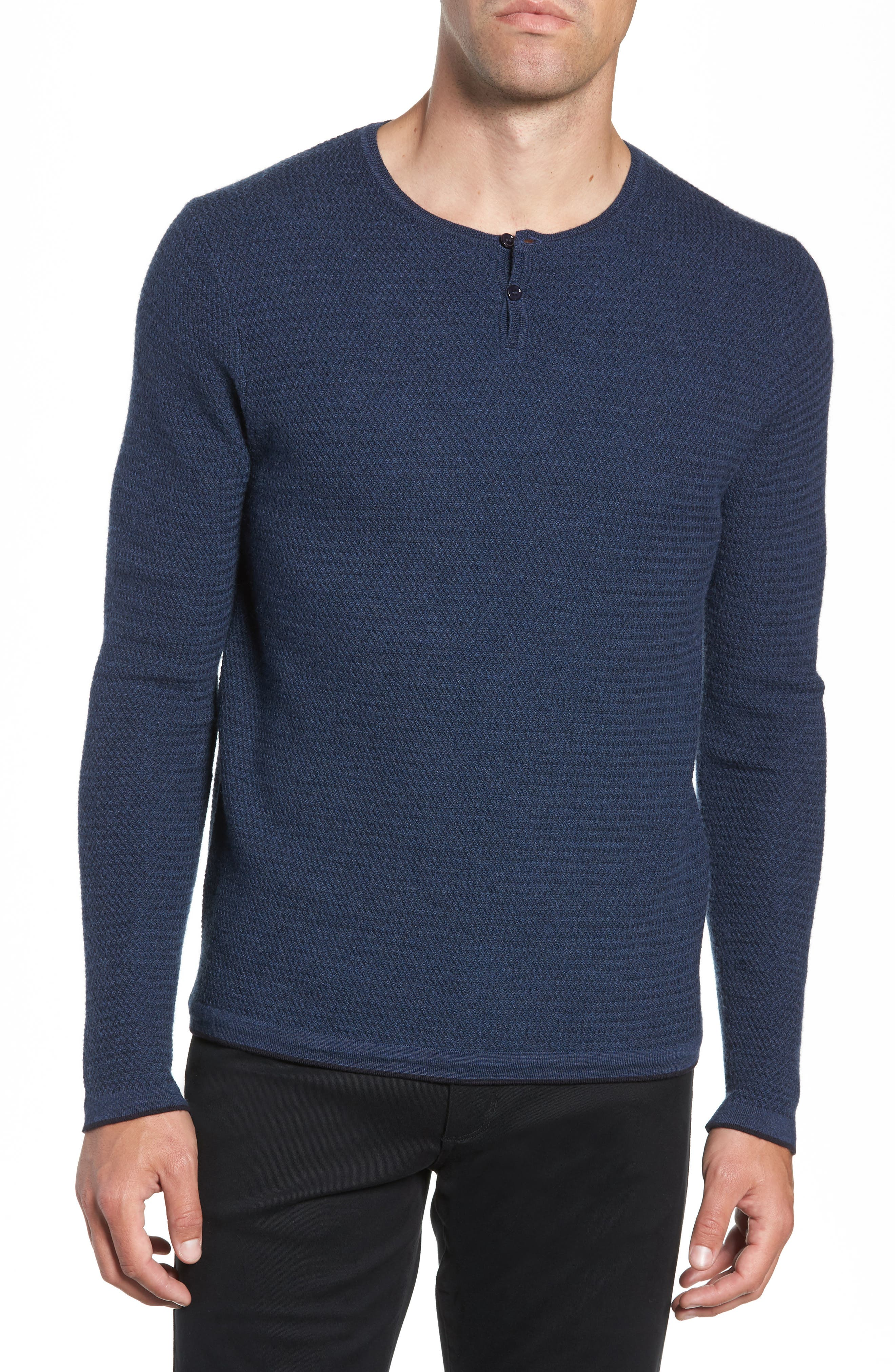 ZACHARY PRELL Hawthorn Wool Blend Thermal in Blue