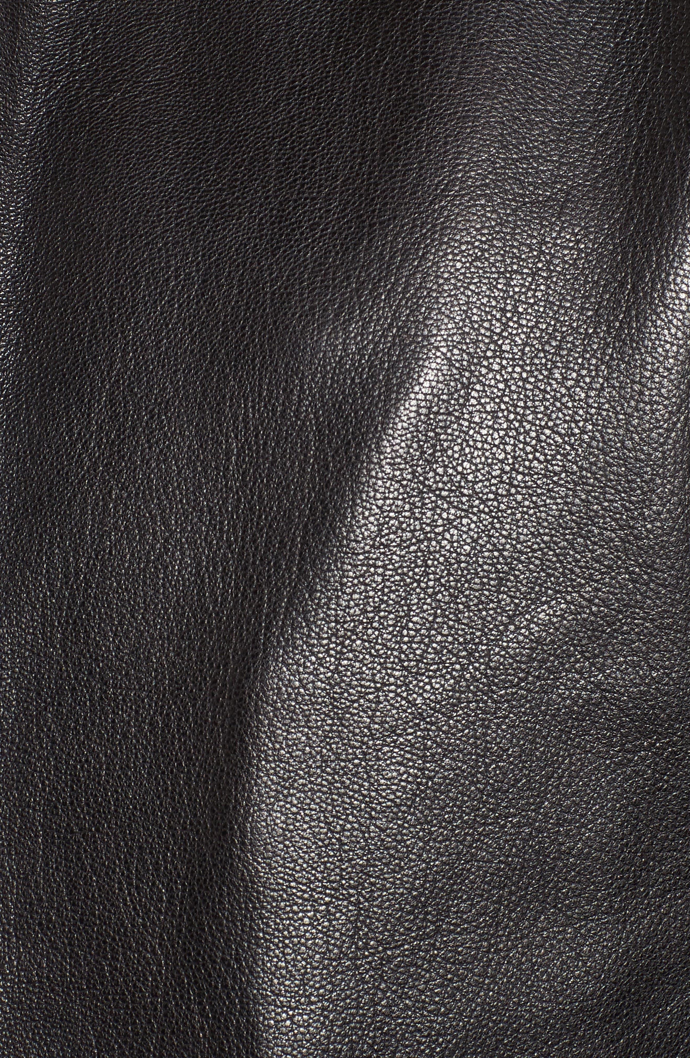 Mate Leather Biker Jacket,                             Alternate thumbnail 6, color,                             001