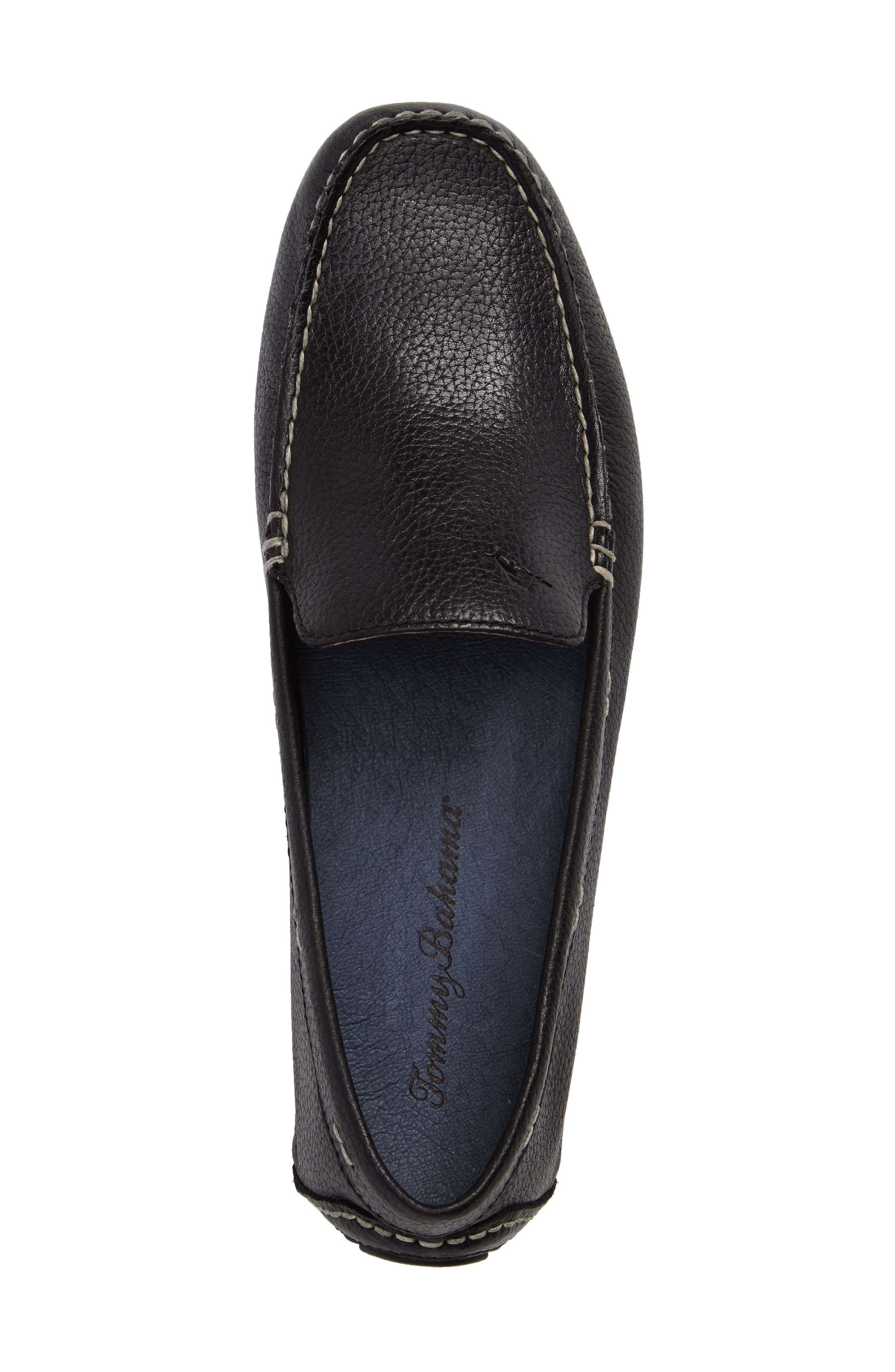 Pagota Driving Loafer,                             Alternate thumbnail 5, color,                             BLACK LEATHER