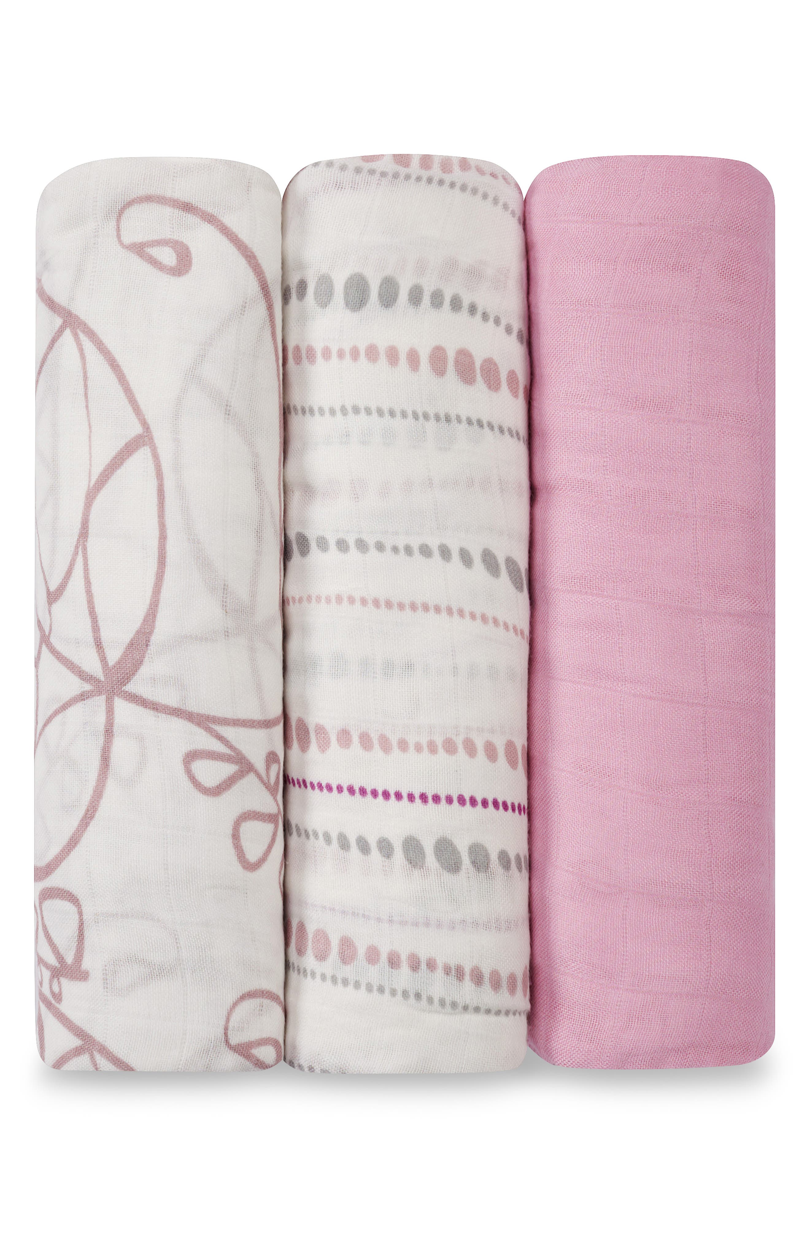 Swaddling Cloths, 3-Pack,                             Alternate thumbnail 2, color,                             TRANQUILITY