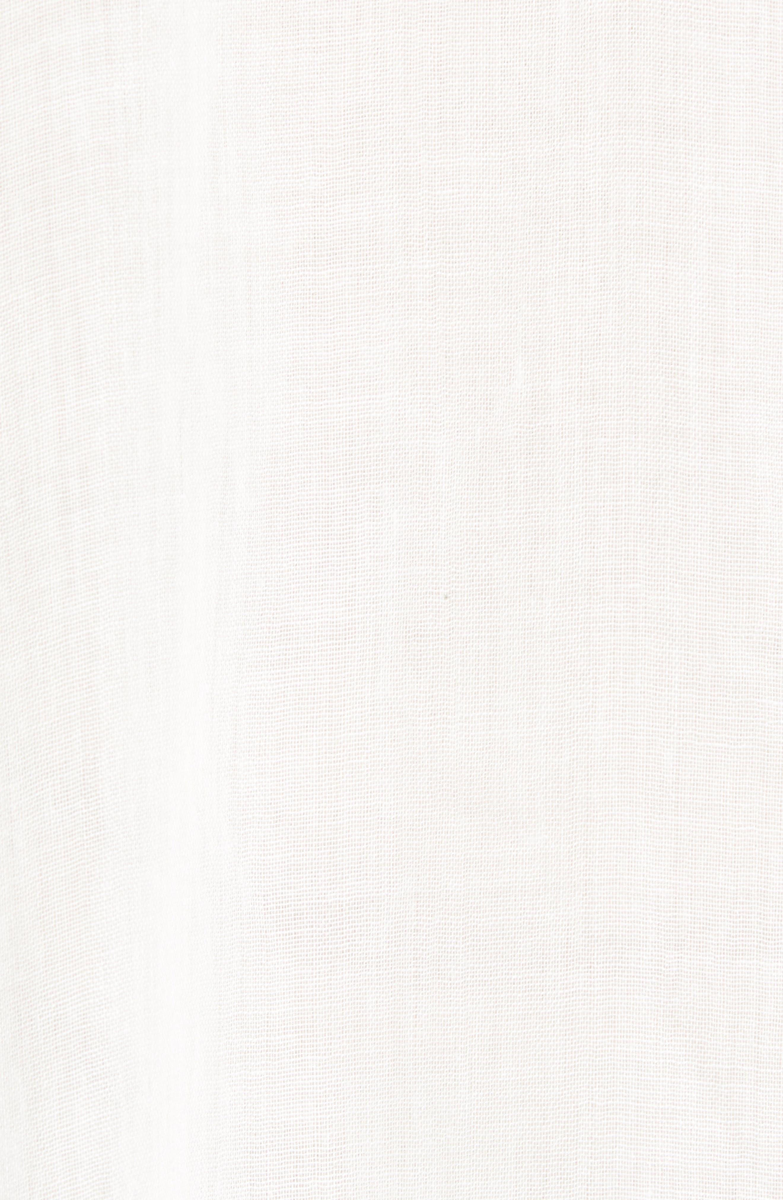 Lace Trim Ruana,                             Alternate thumbnail 6, color,                             WHITE