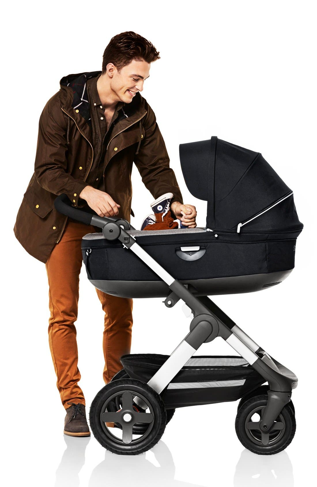 Trailz<sup>™</sup> All Terrain Stroller,                             Alternate thumbnail 5, color,                             BLACK MELANGE