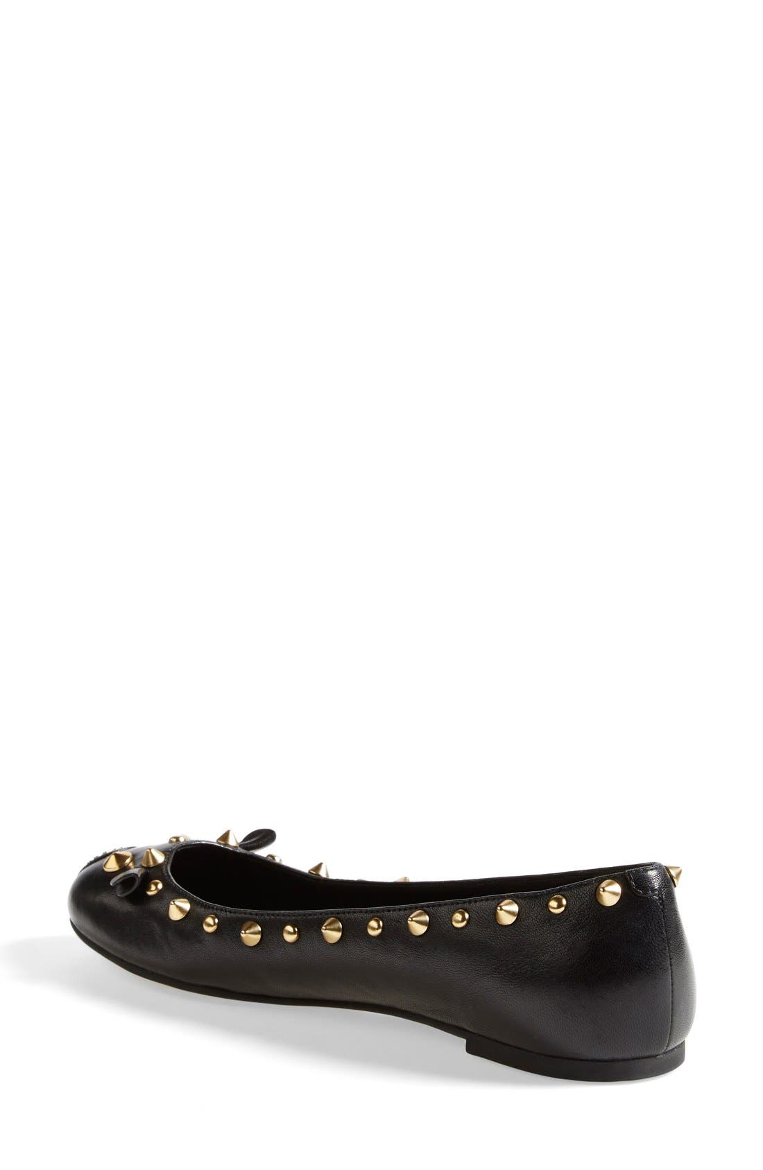 MARC BY MARC JACOBS 'Punk Mouse' Ballerina Flat,                             Alternate thumbnail 3, color,                             001