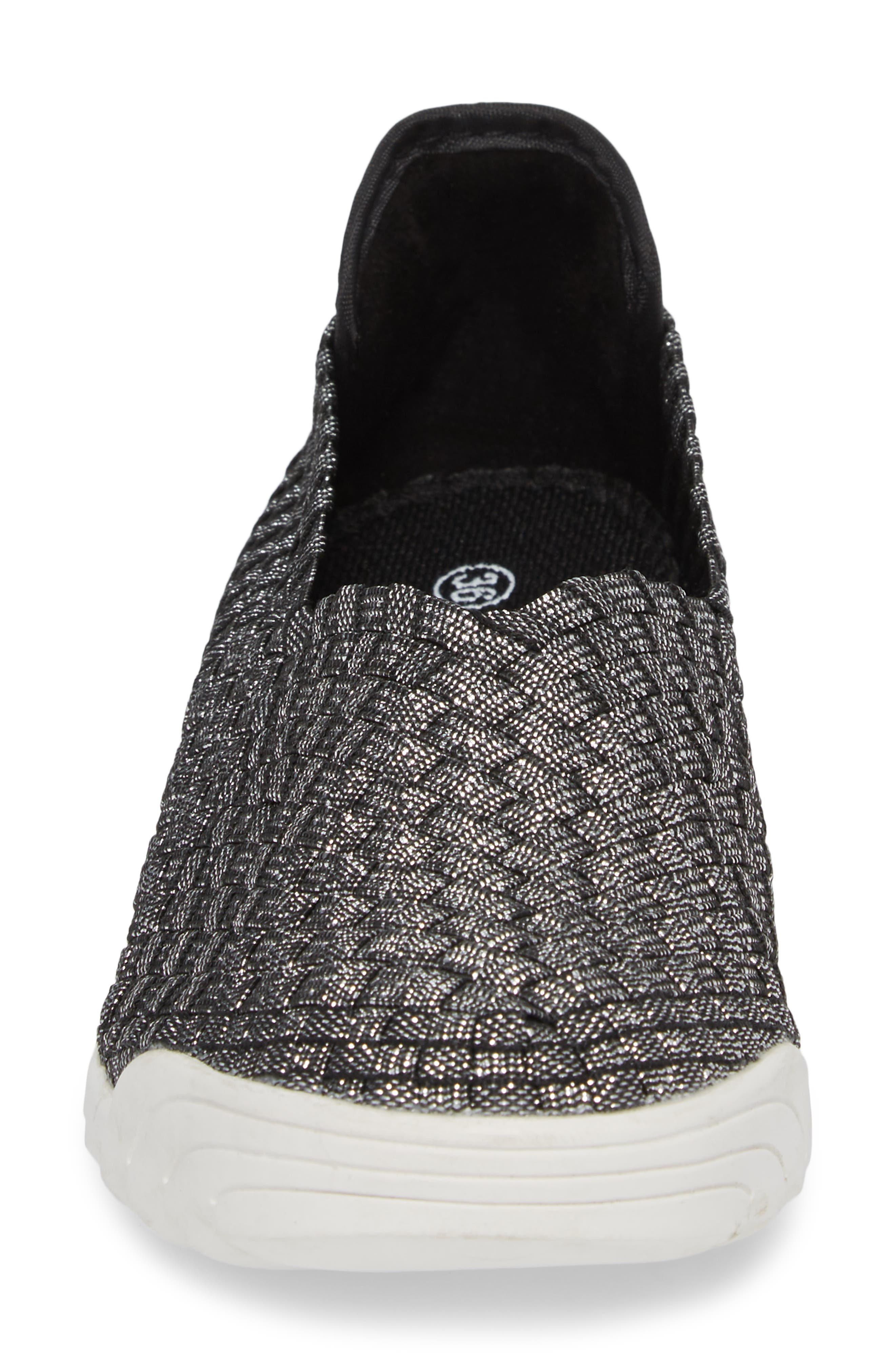Rigged Fly Slip-On Sneaker,                             Alternate thumbnail 4, color,                             BLACK SHIMMER