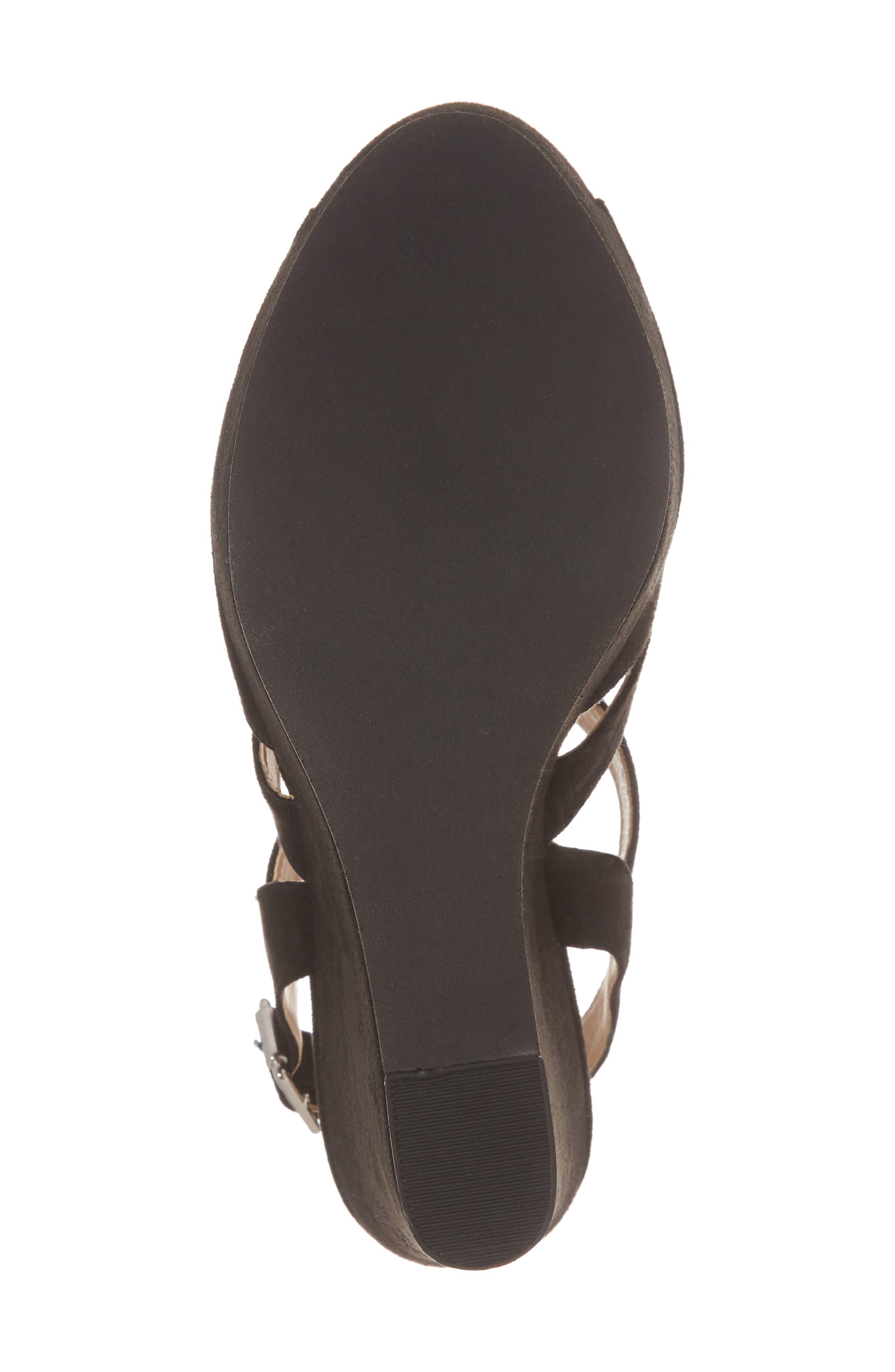 Sunny Platform Wedge Sandal,                             Alternate thumbnail 6, color,                             001