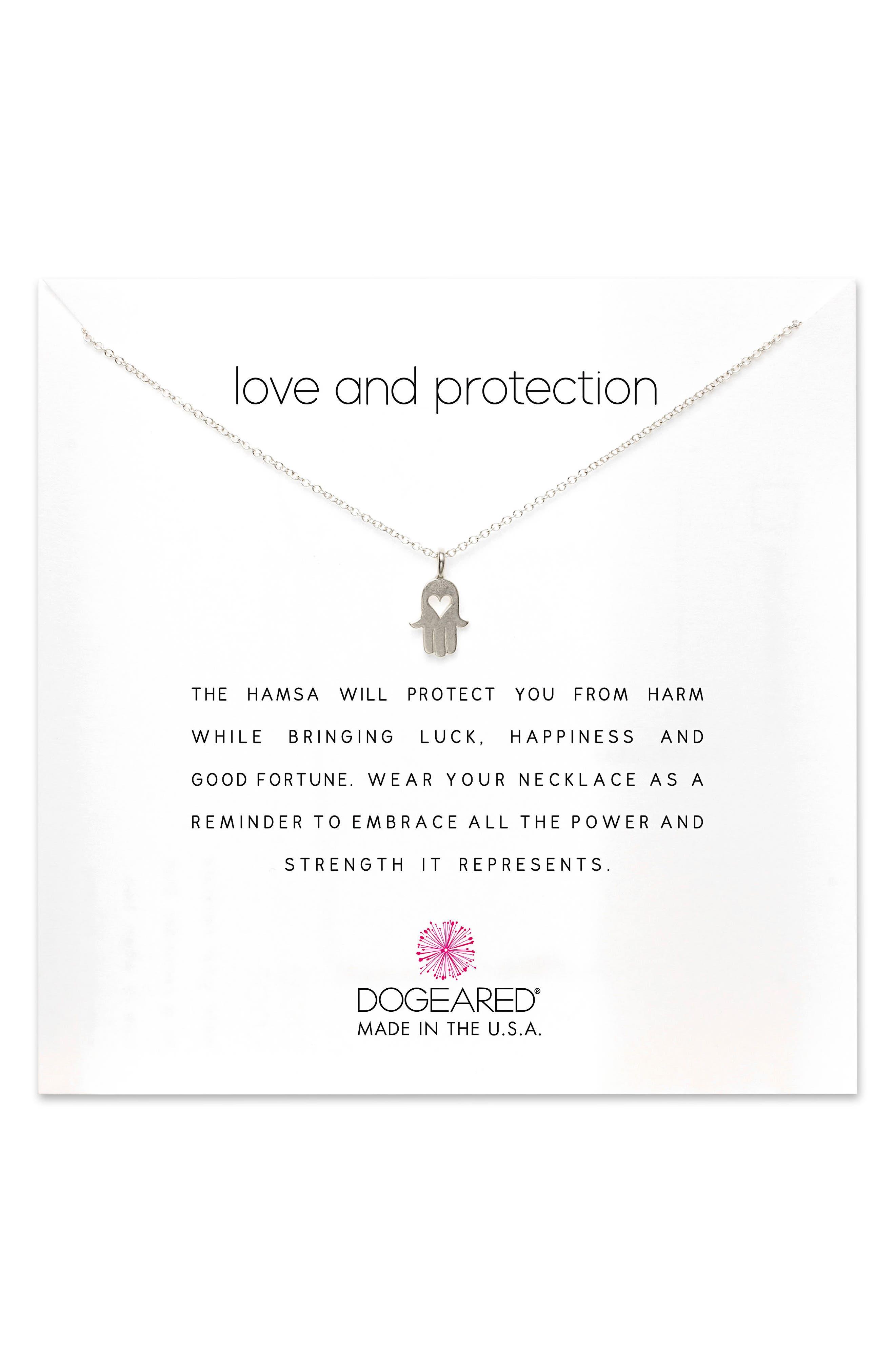 Love & Protection Pendant Necklace,                         Main,                         color, 042