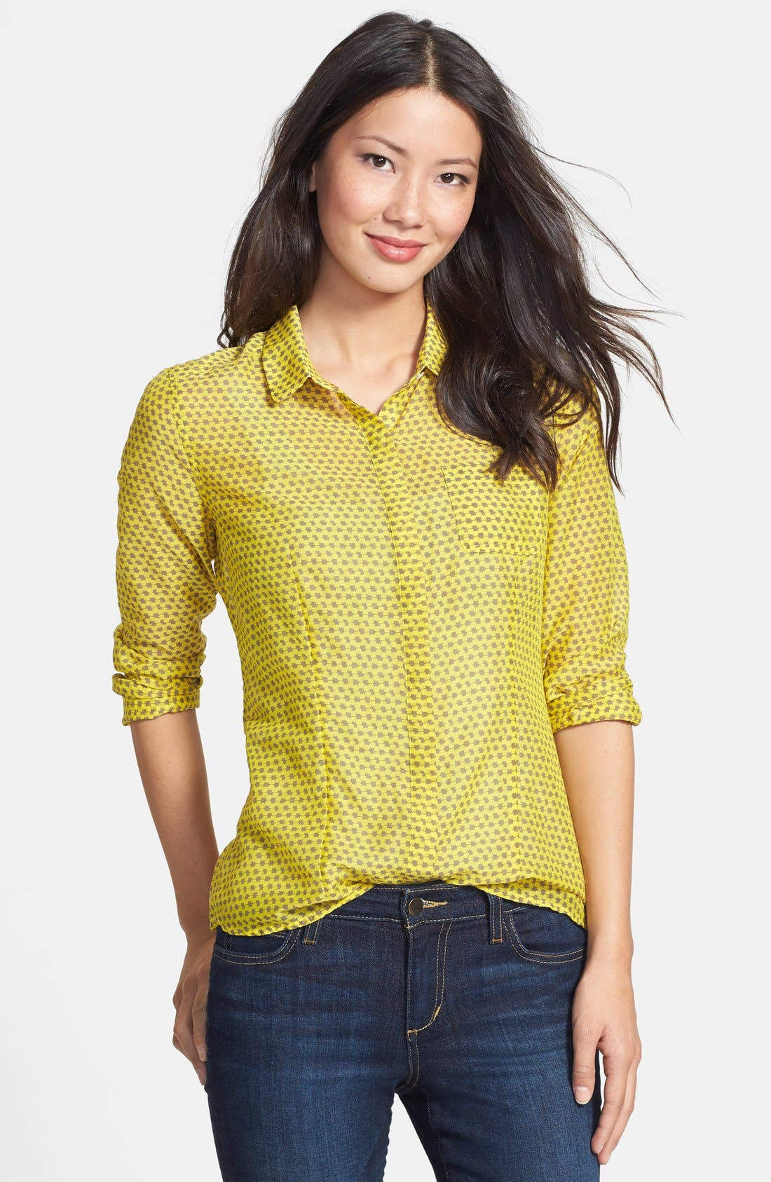 Cotton & Silk Shirt,                             Main thumbnail 7, color,