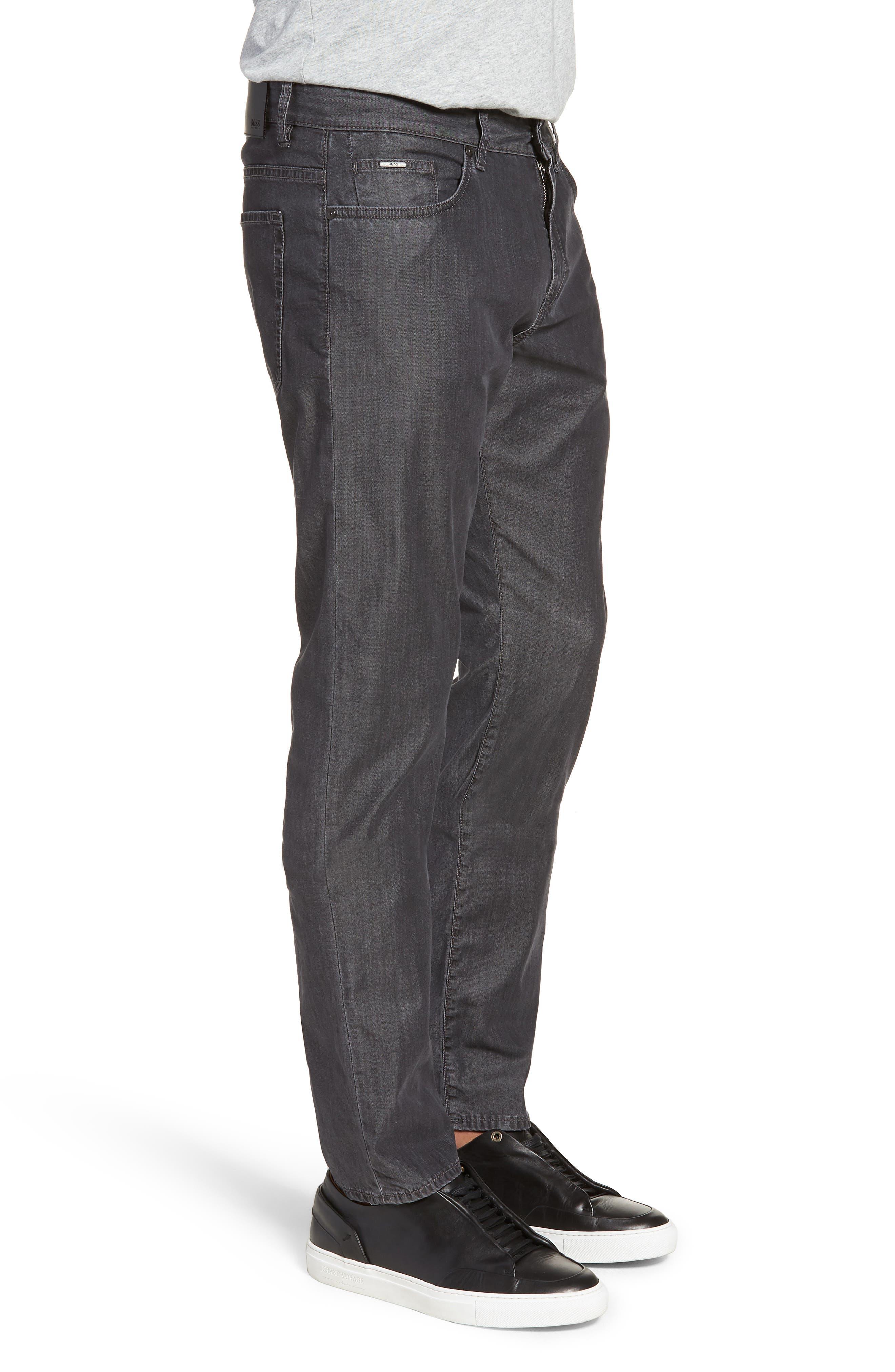BOSS,                             Delaware Slim Fit Jeans,                             Alternate thumbnail 3, color,                             020