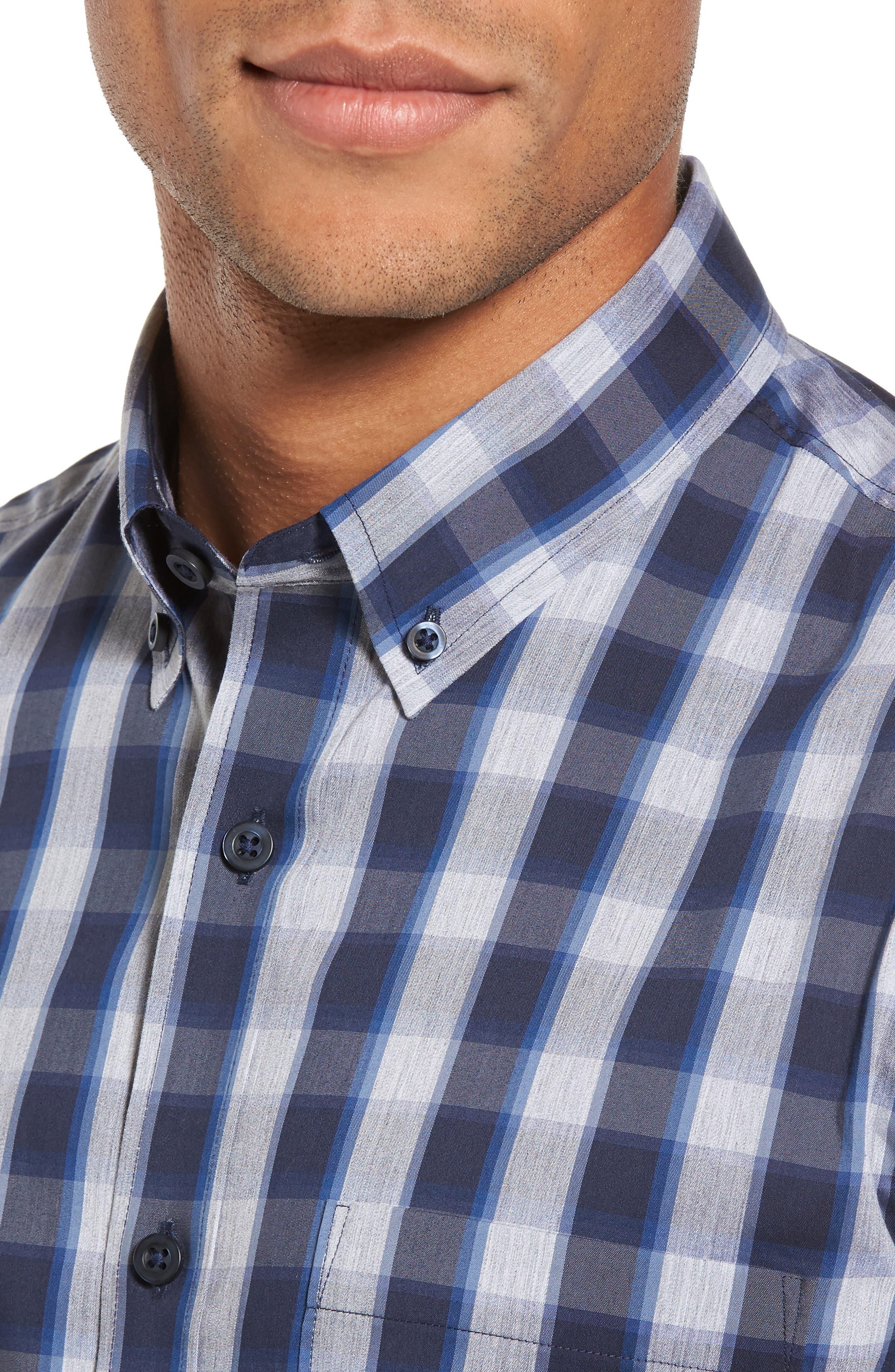 Spade Tech-Smart Trim Fit Check Sport Shirt,                             Alternate thumbnail 4, color,                             410