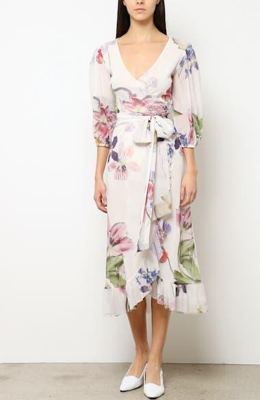 Floral Print Mesh Dress, video thumbnail