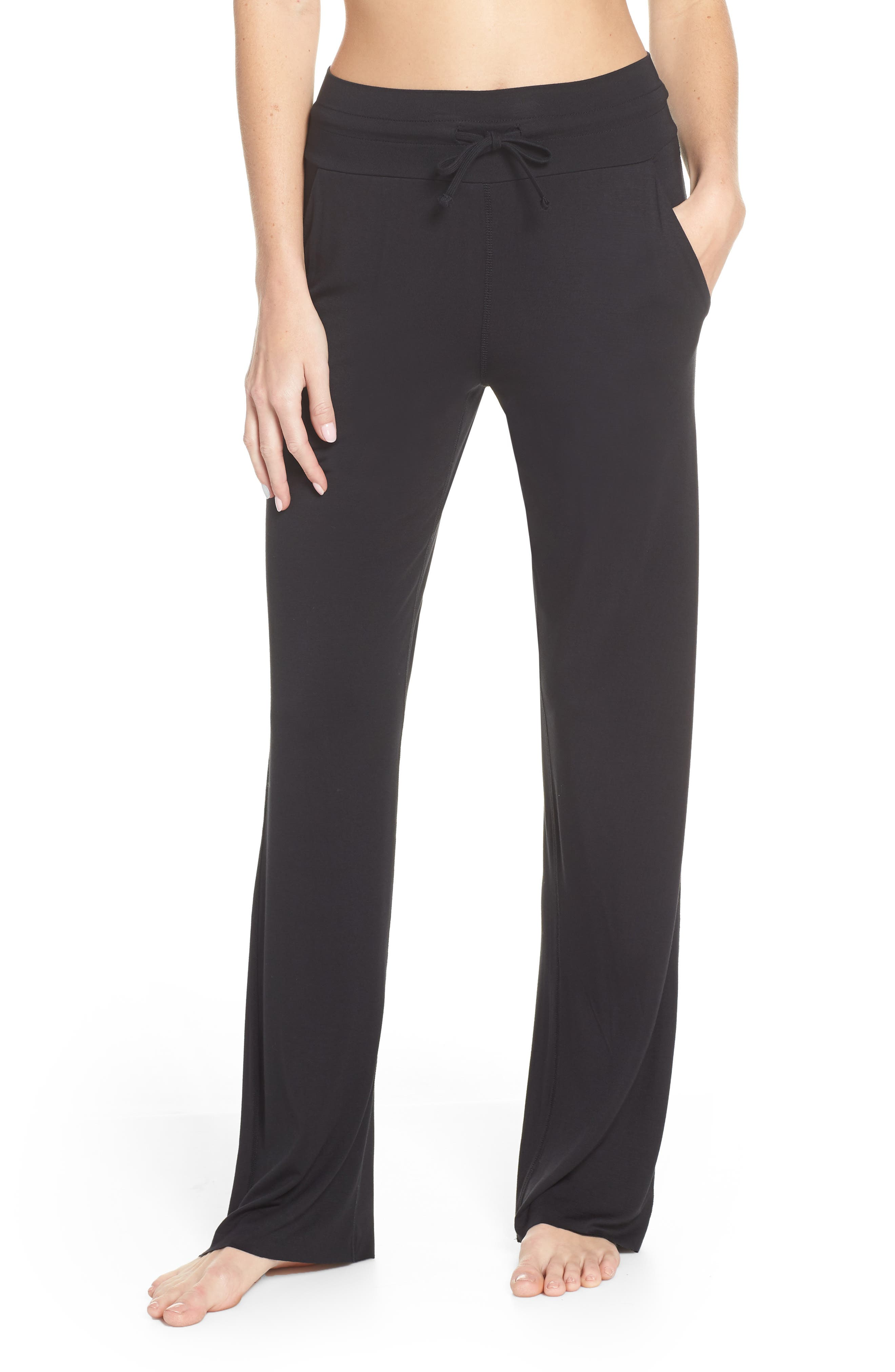 ALO Drawstring Pants, Main, color, BLACK