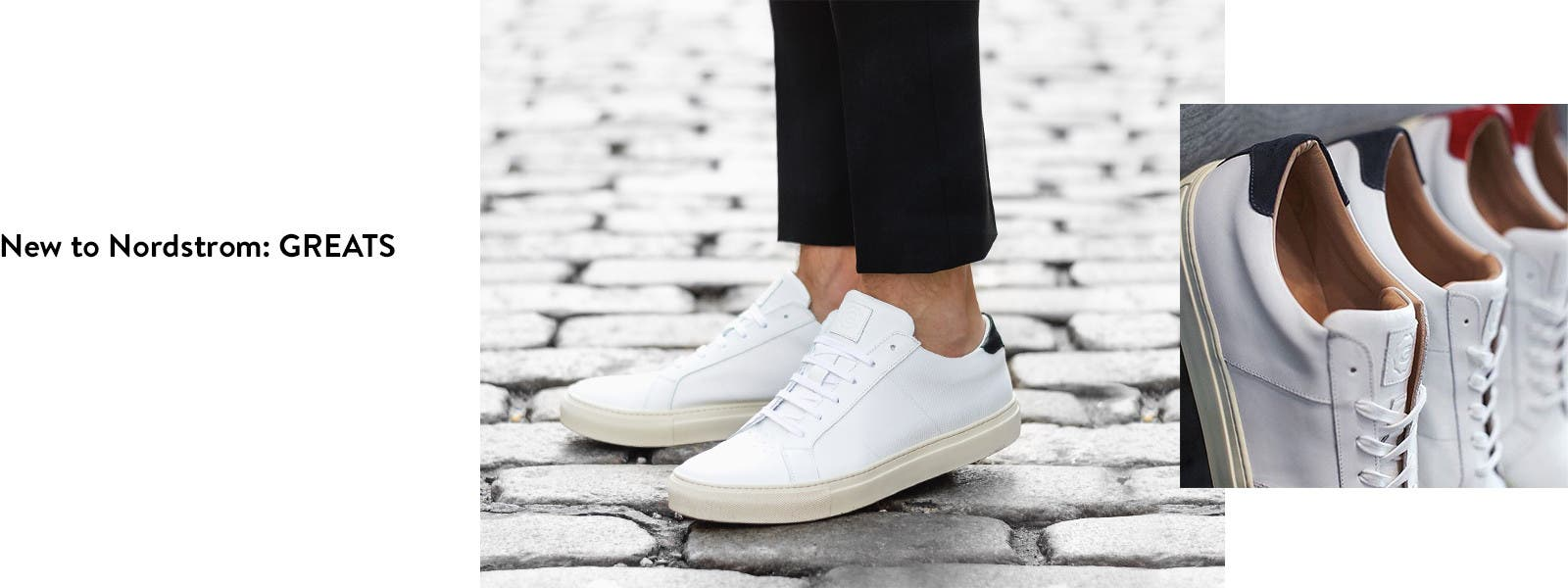 New to Nordstrom: Greats sneakers for men.