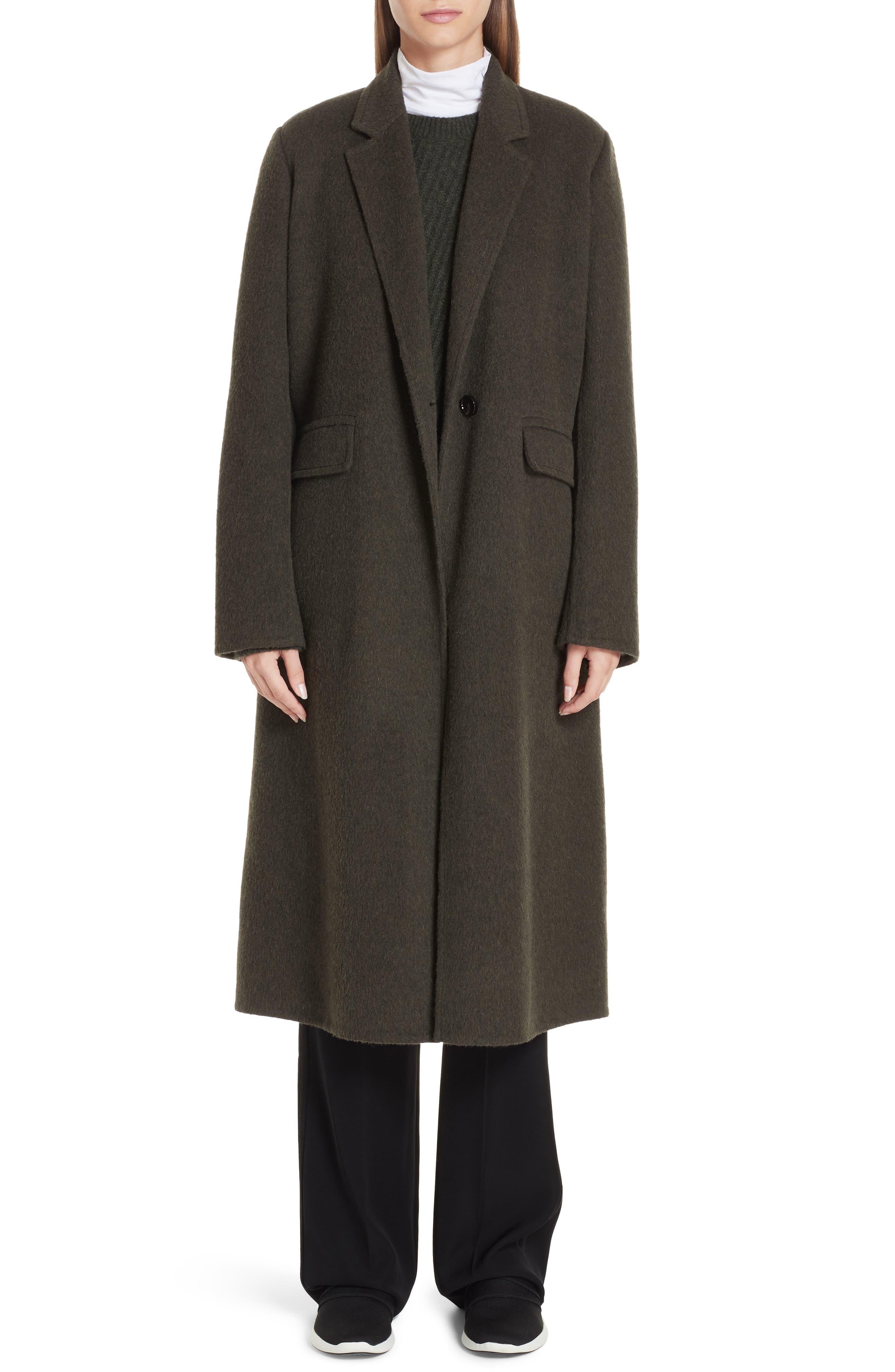 VINCE,                             Long Wool Alpaca Blend Coat,                             Alternate thumbnail 8, color,                             341