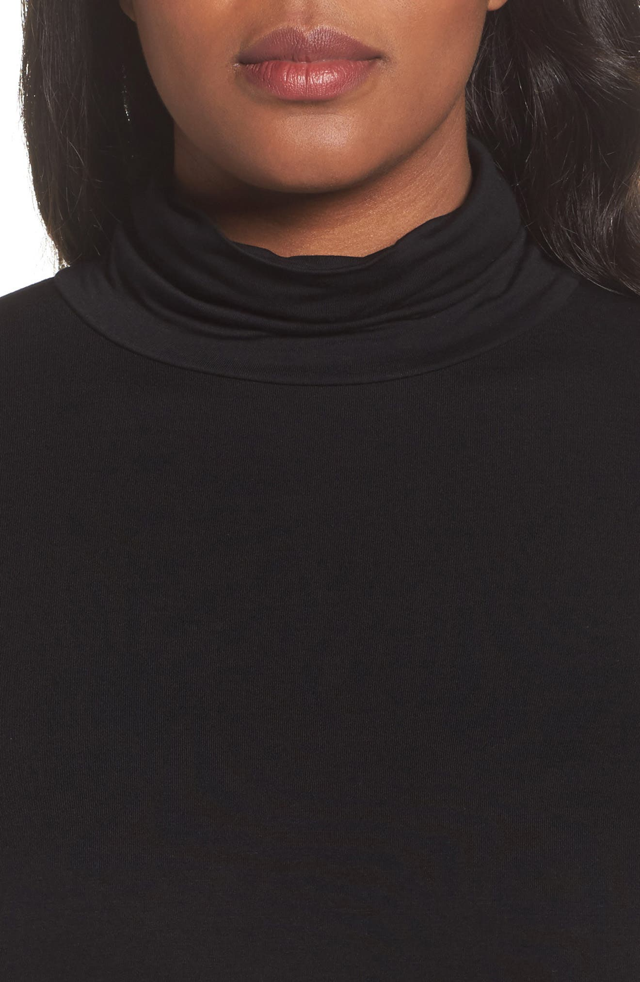 Mock Neck Top,                             Alternate thumbnail 4, color,                             001