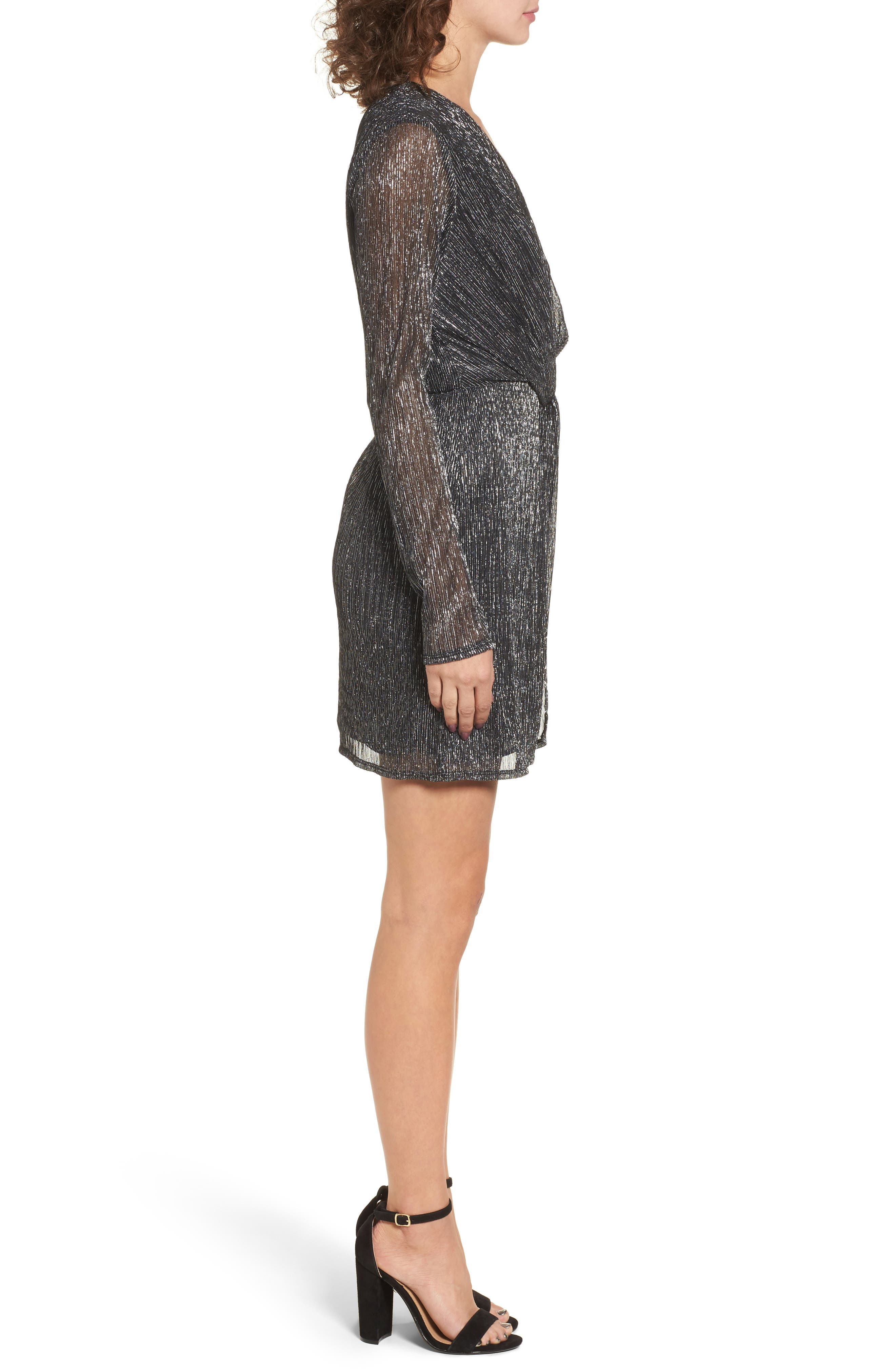 Metallic Twist Front Dress,                             Alternate thumbnail 2, color,                             040