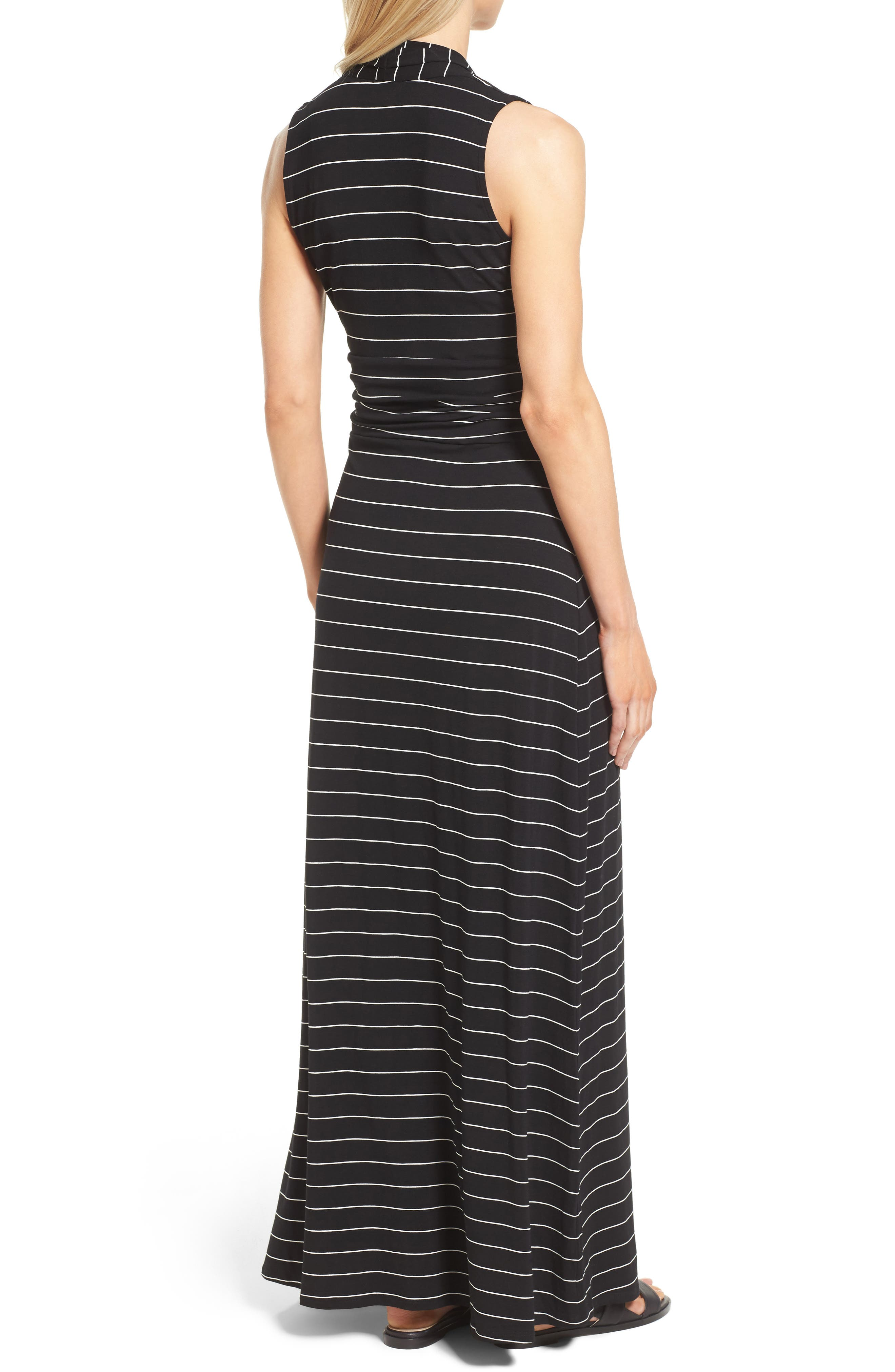 Stripe Maxi Dress,                             Alternate thumbnail 2, color,                             006