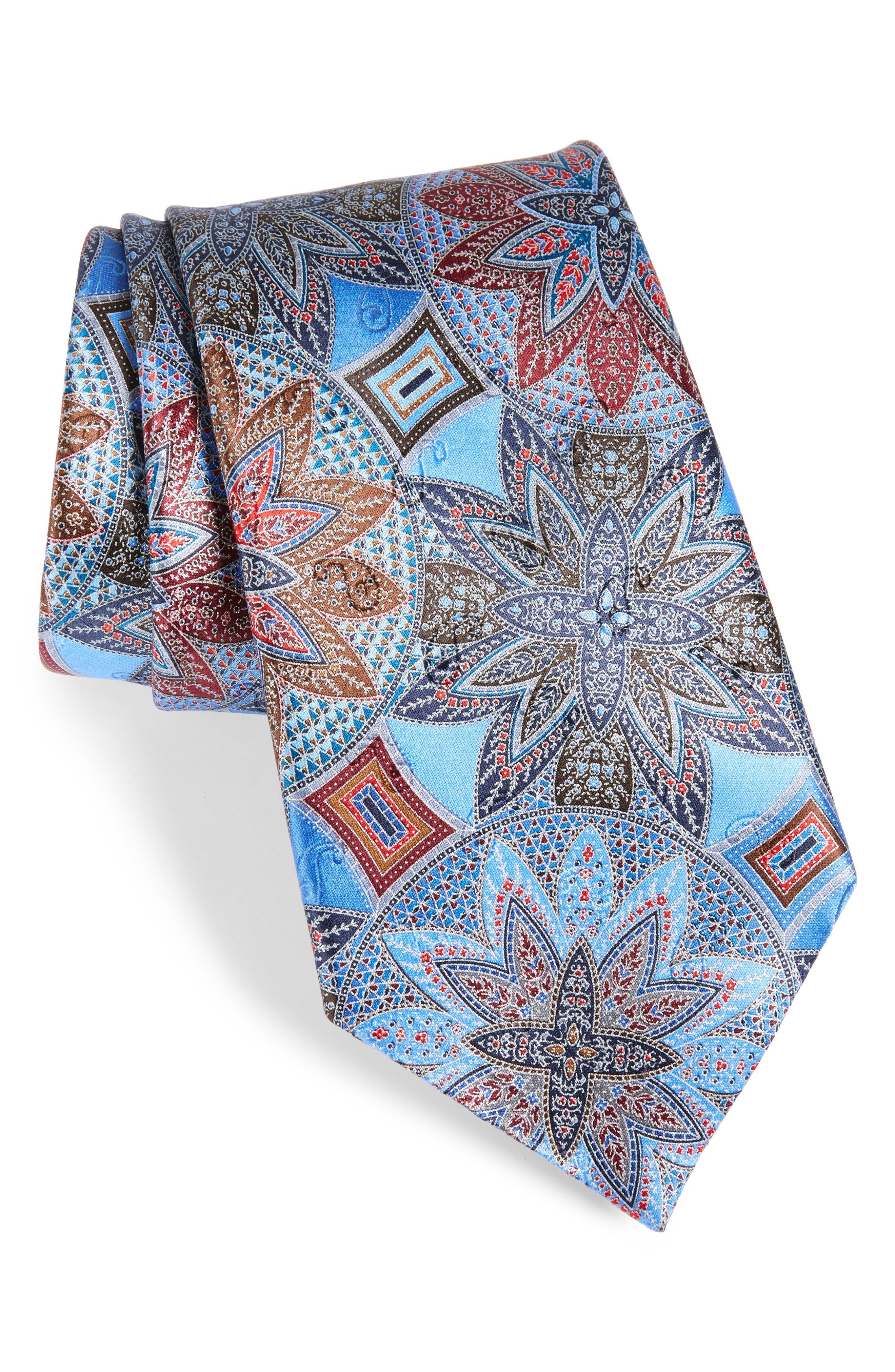 Quindici Medallion Silk Tie,                         Main,                         color, 418