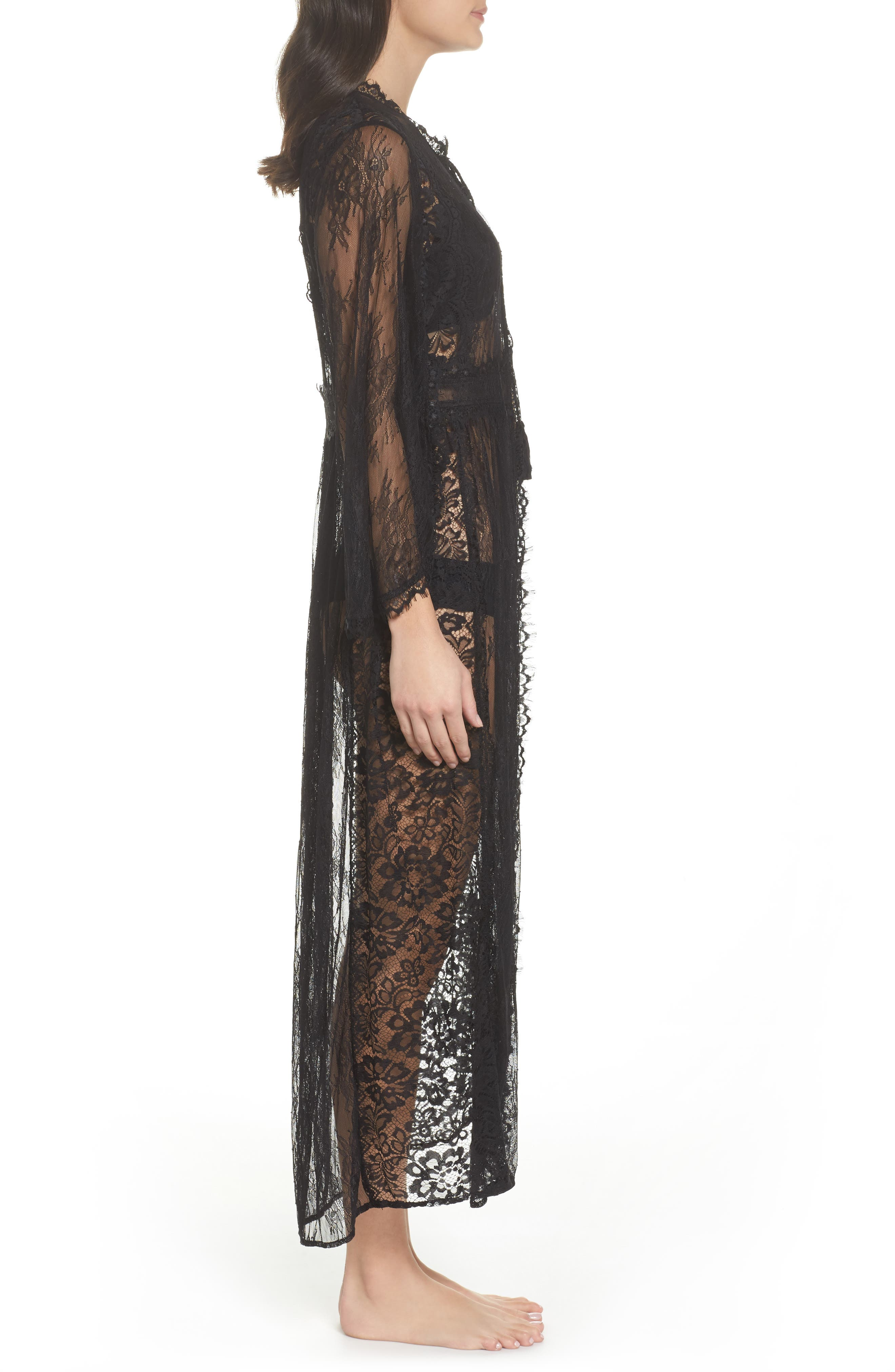 Intimately FP Chelsea Lace Robe,                             Alternate thumbnail 3, color,                             001