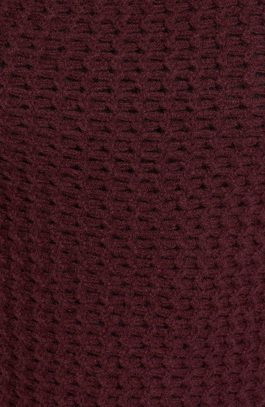 Stitch Detail Cashmere Mock Neck Sweater,                             Alternate thumbnail 9, color,