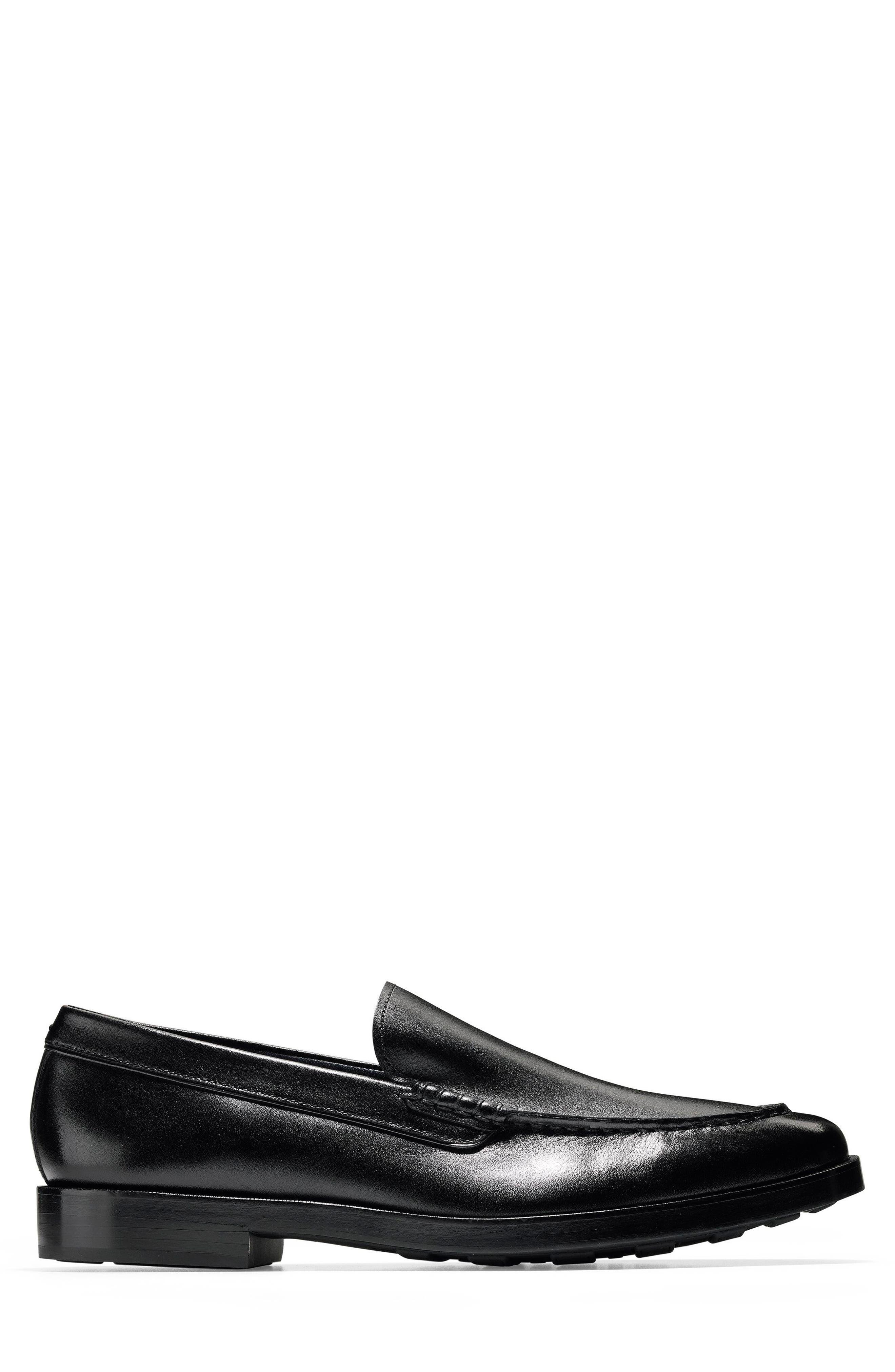 Hamilton Grand Venetian Loafer,                             Alternate thumbnail 3, color,                             BLACK
