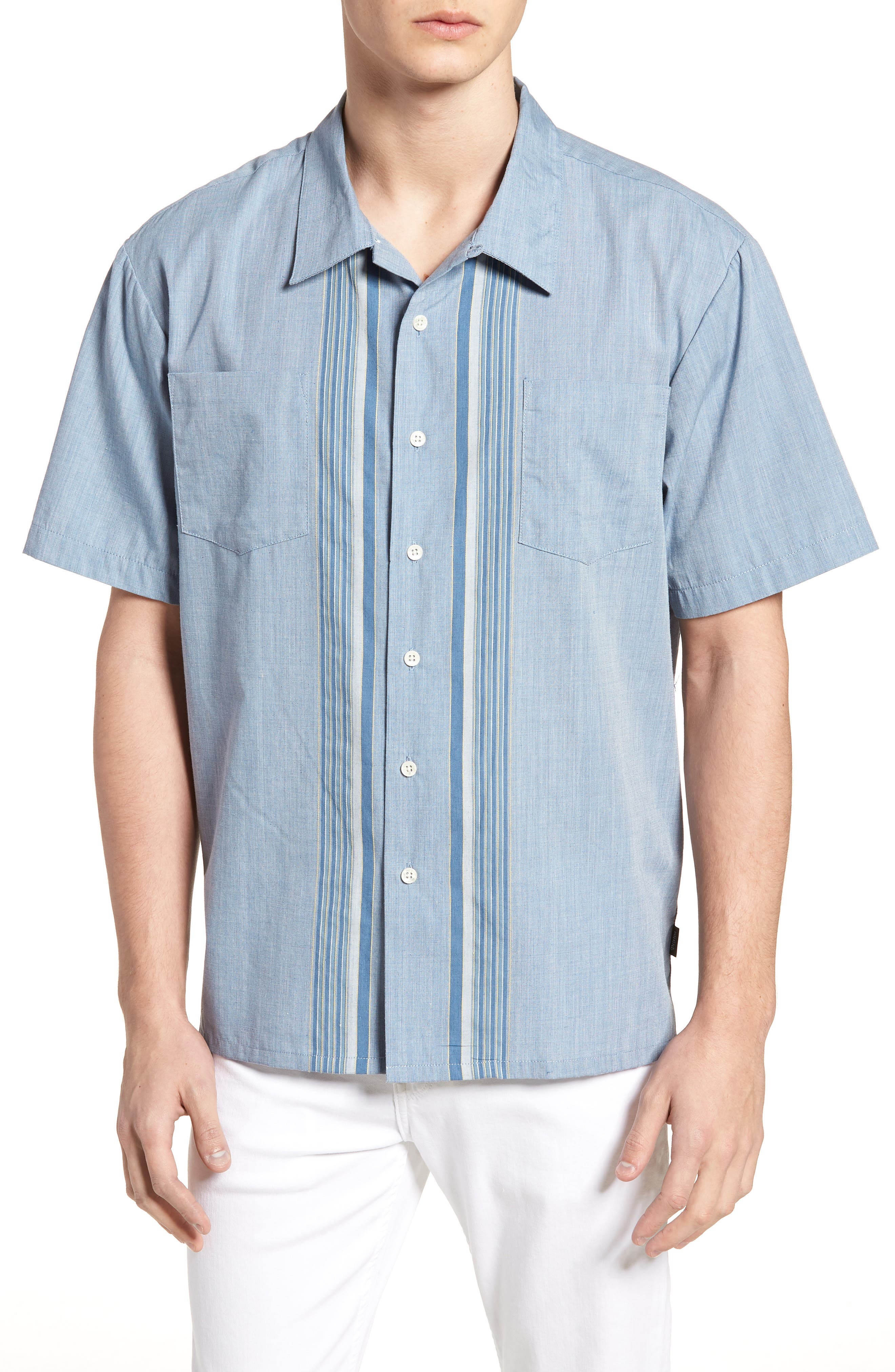 Cruze Woven Shirt,                             Main thumbnail 1, color,                             LIGHT BLUE