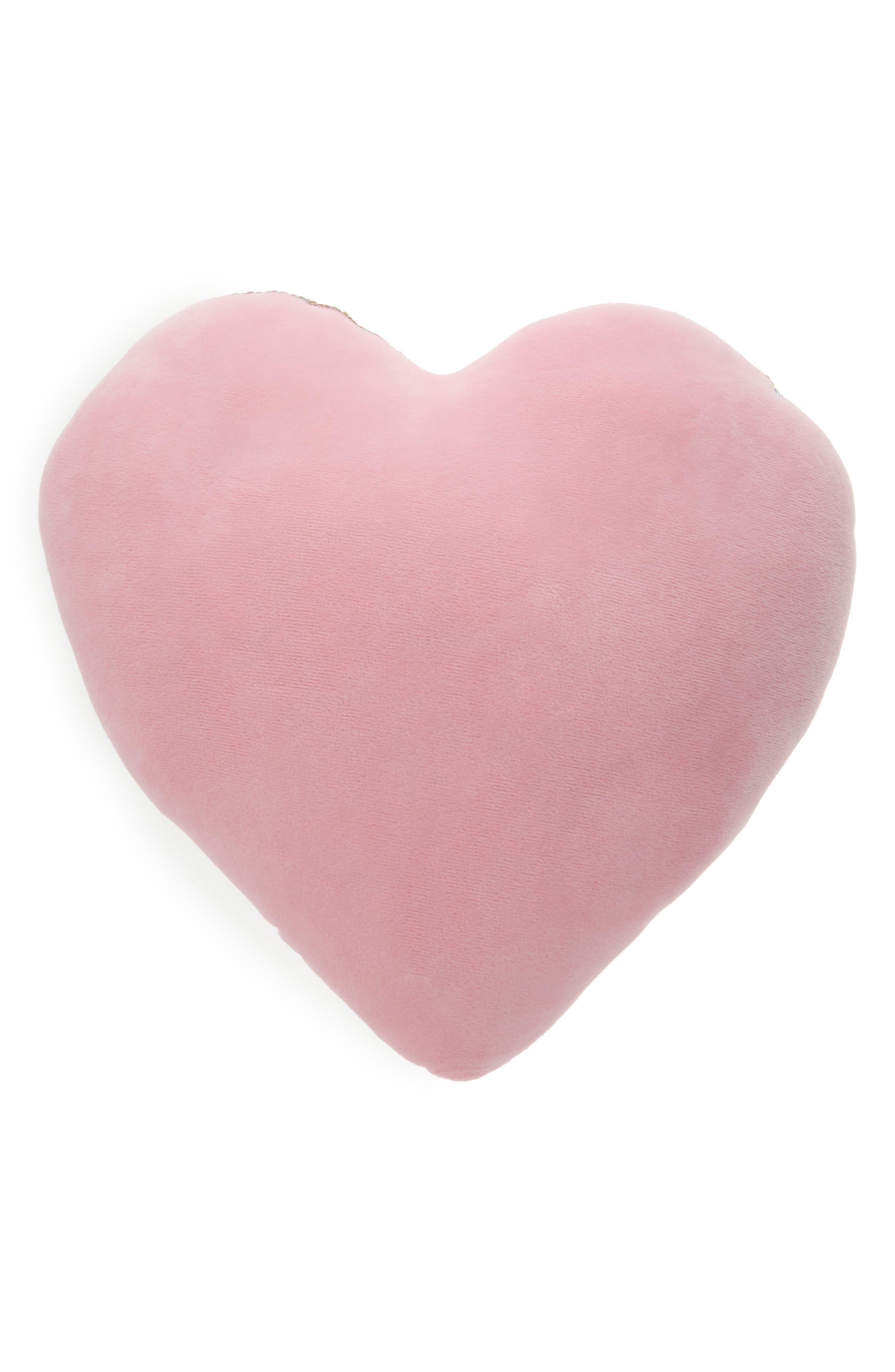 Flip Sequin Love Pillow,                             Alternate thumbnail 2, color,                             ROSE GOLD