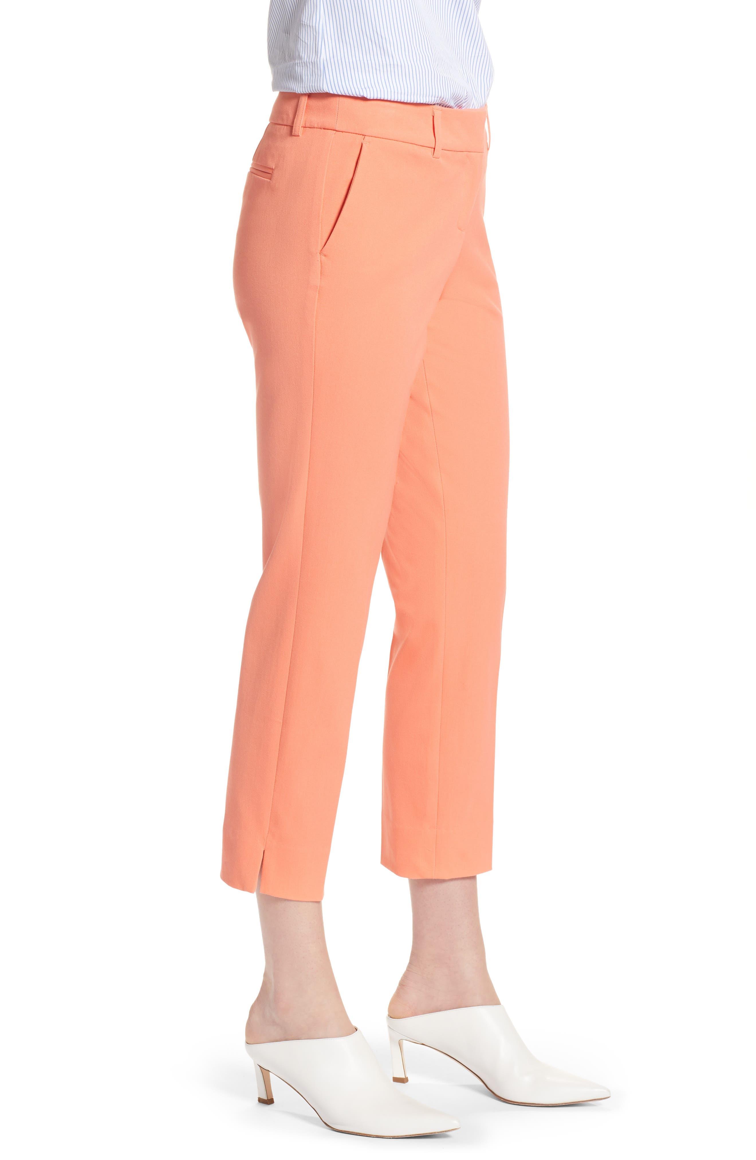 Crop Stretch Cotton Pants,                             Alternate thumbnail 49, color,