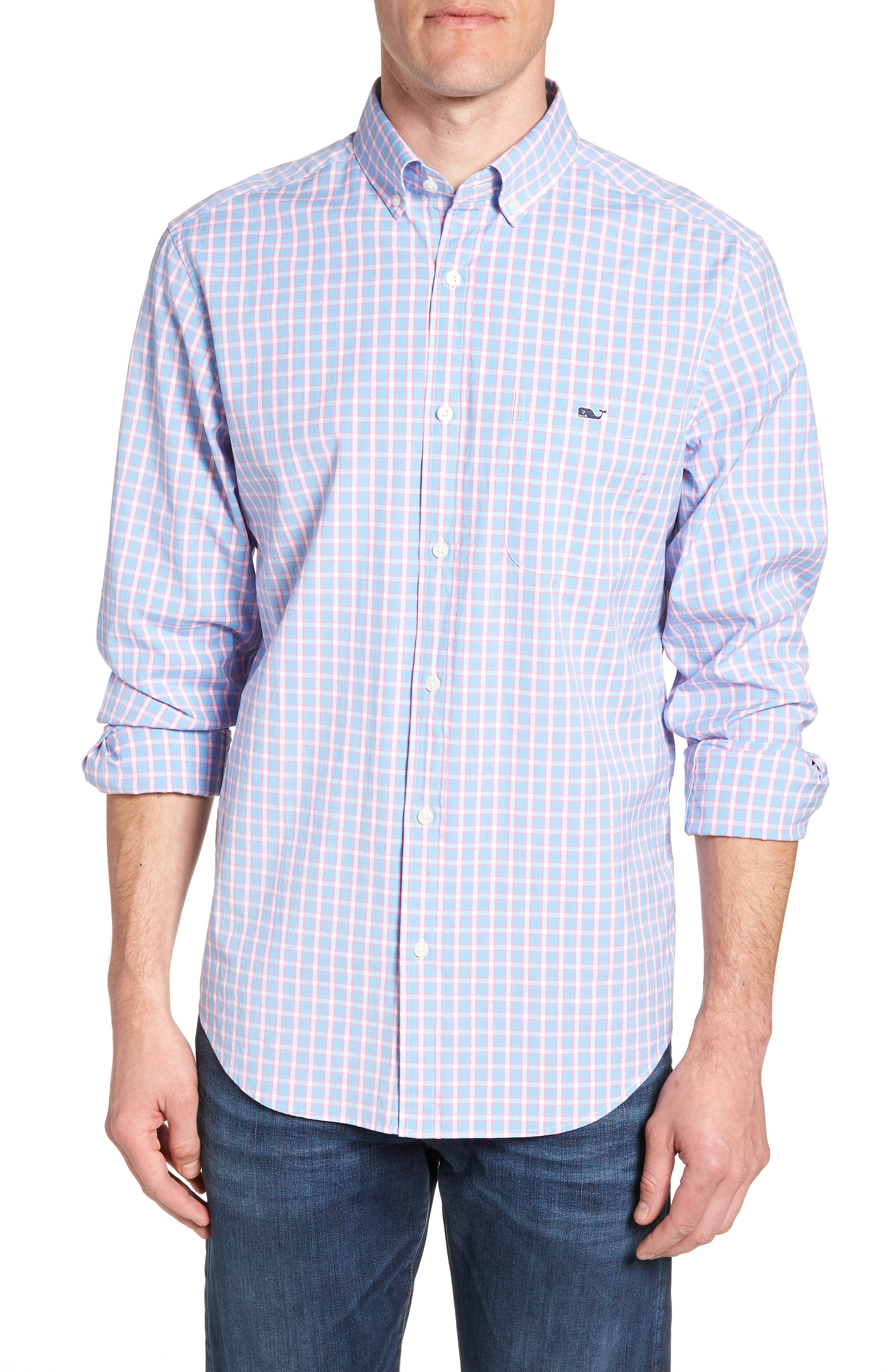 Harlock Pond Plaid Classic Fit Sport Shirt,                         Main,                         color, 484
