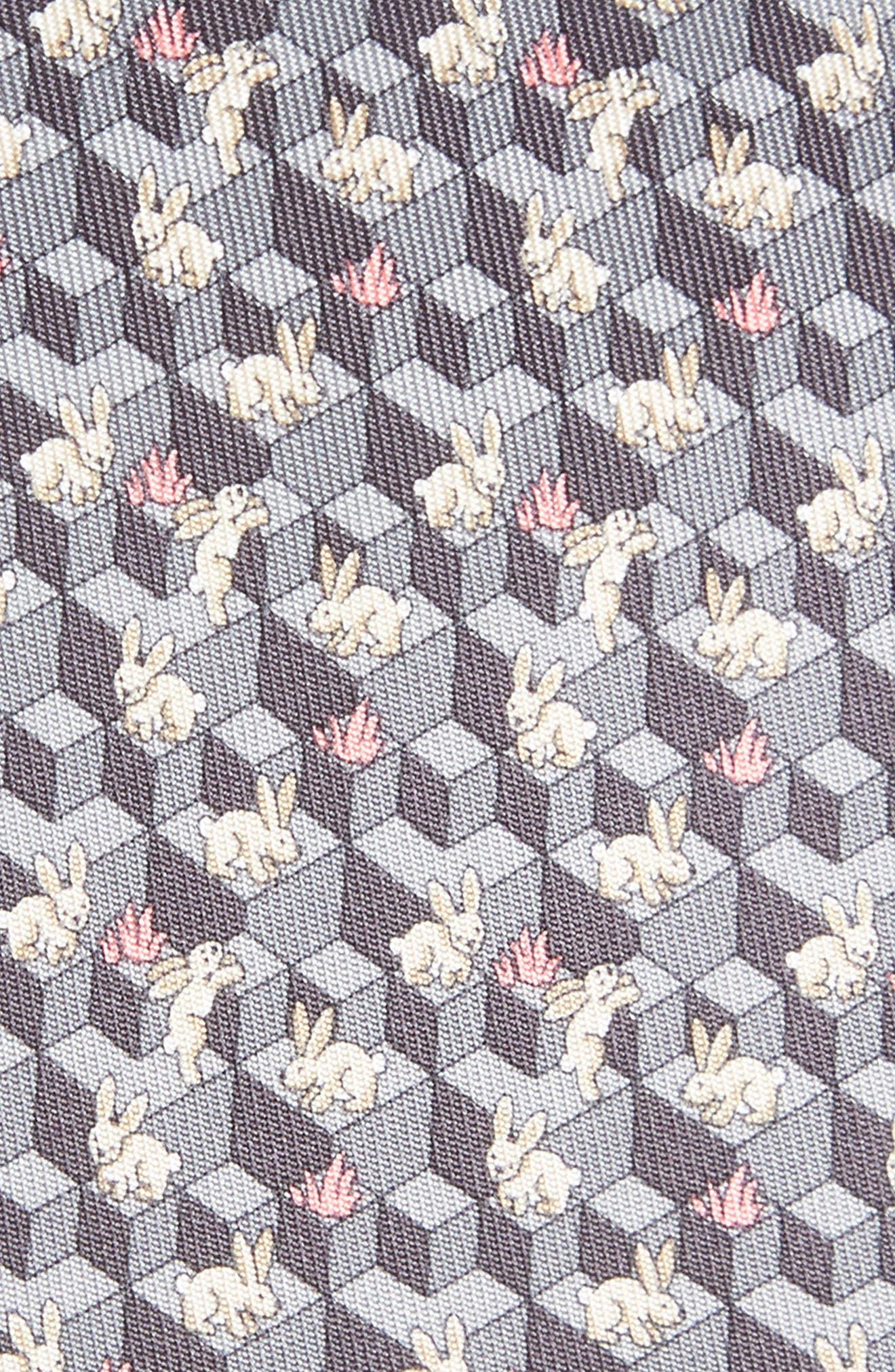 Flip Print Silk Tie,                             Alternate thumbnail 2, color,                             SMOKE