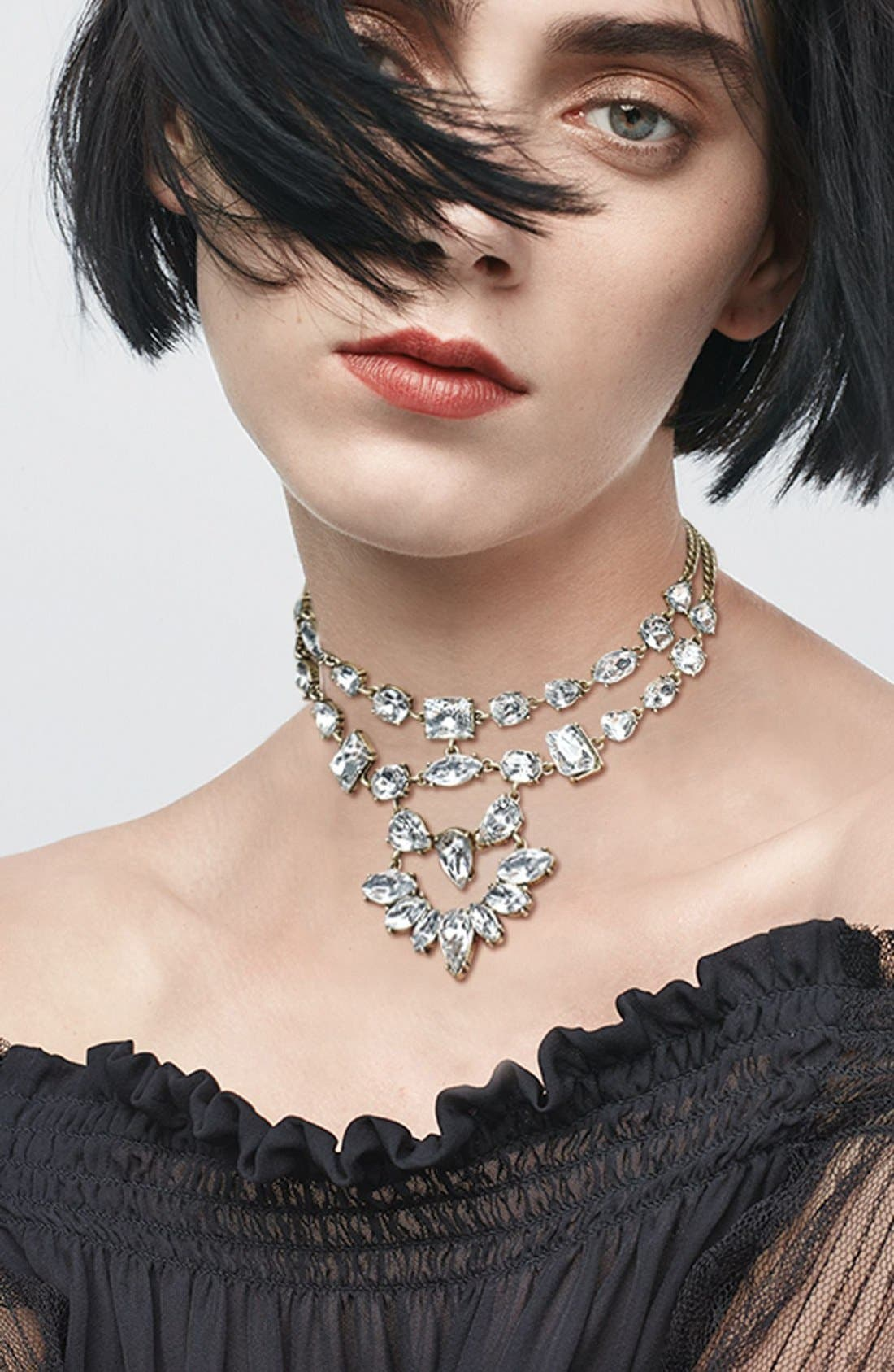 Reina Bib Necklace,                             Alternate thumbnail 3, color,                             719