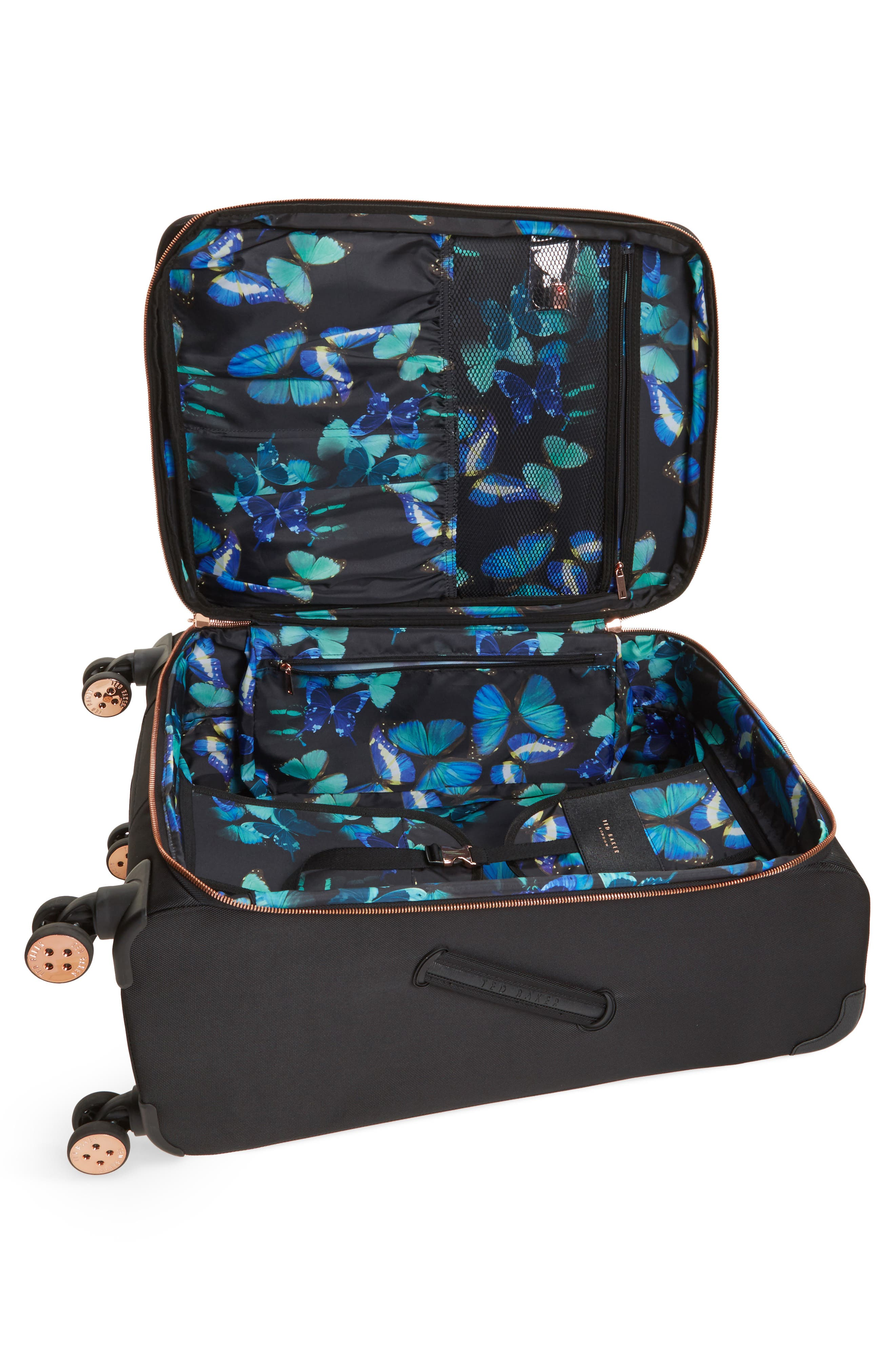 Medium Albany 27-Inch Spinner Suitcase,                             Alternate thumbnail 2, color,                             BLACK